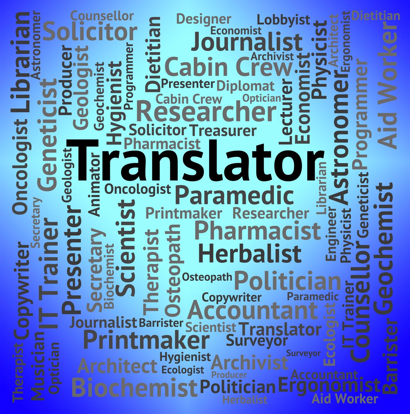 Translator job indicates occupation hire and career photo