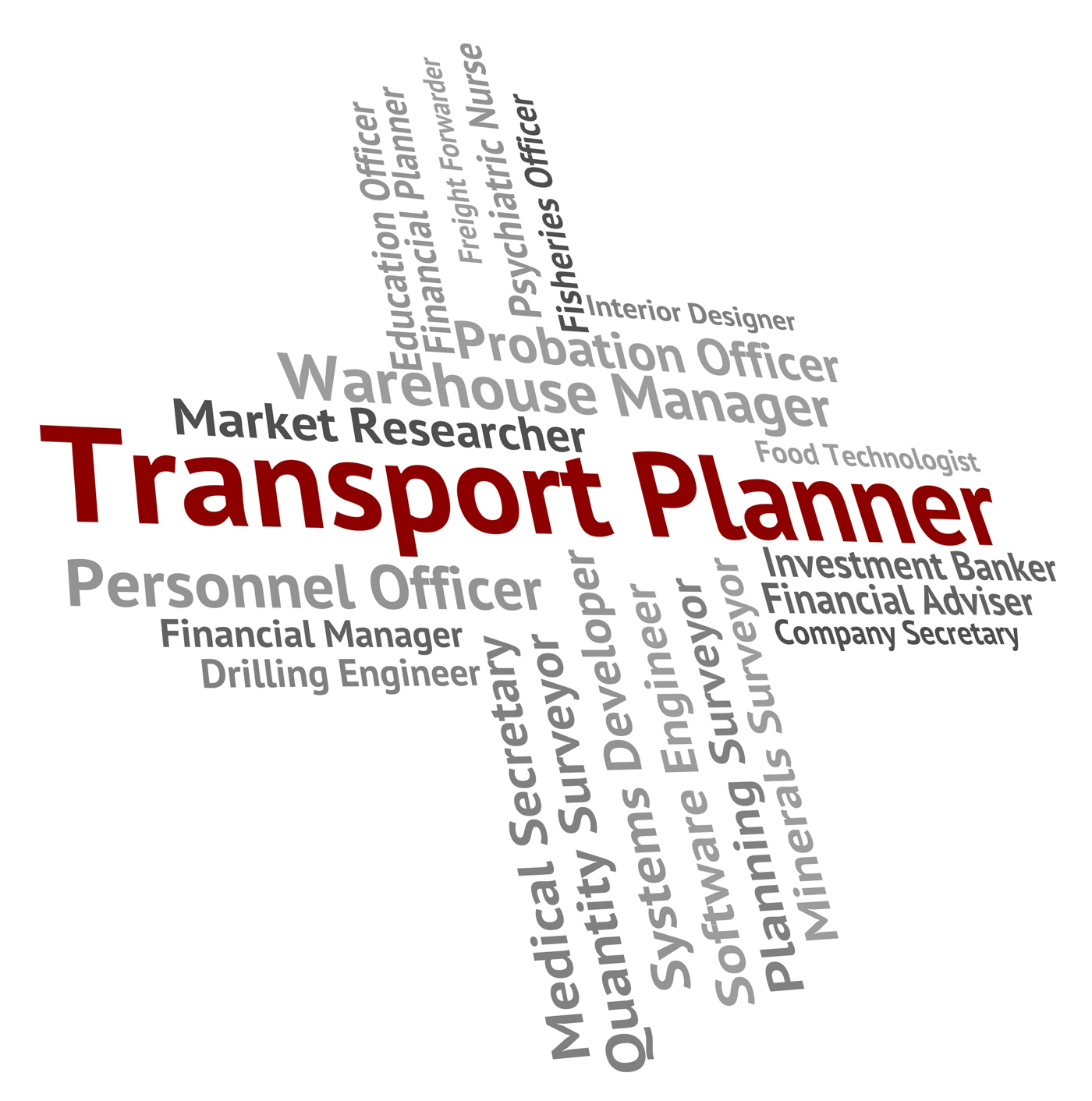Transport planner shows jobs deliver and organizer photo