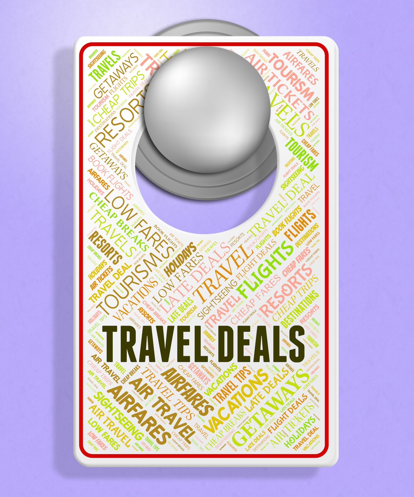 Travel deals represents holiday discount and sign photo