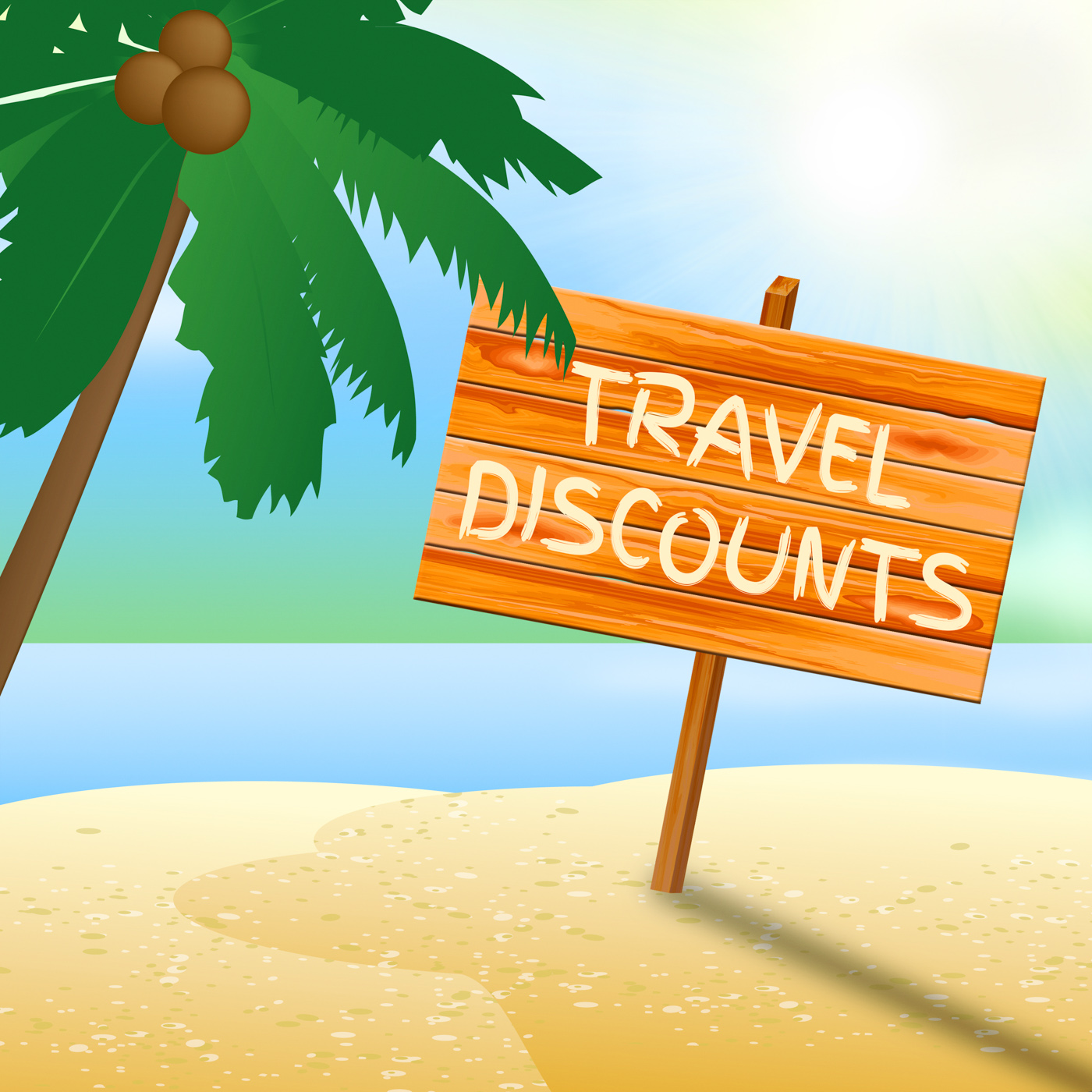 Travel discounts means promo trip 3d illustration photo