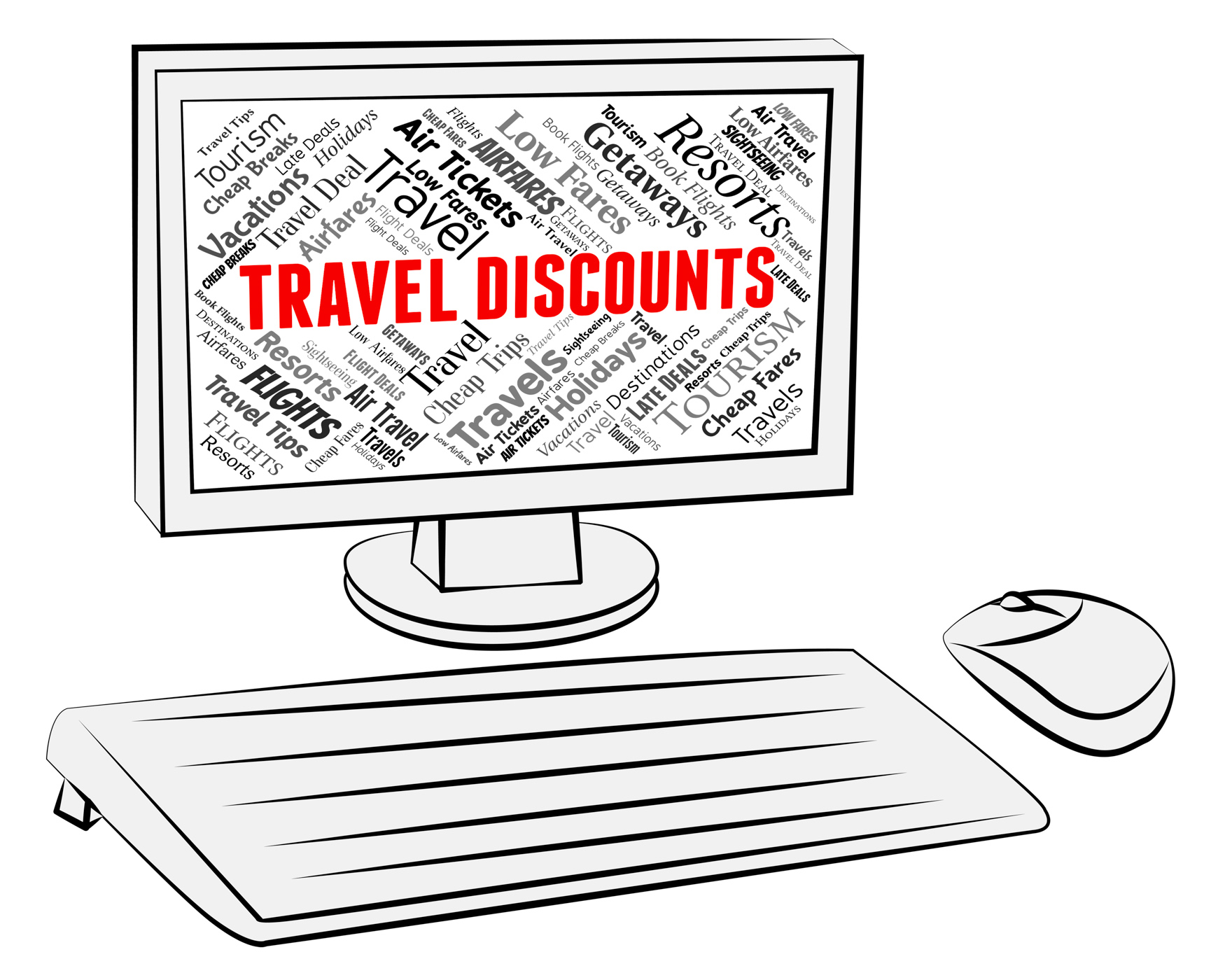 Travel Discounts Represents Travelling Vacations And Bargains, Bargain, Traveldiscounts, Promotional, Reduction, HQ Photo