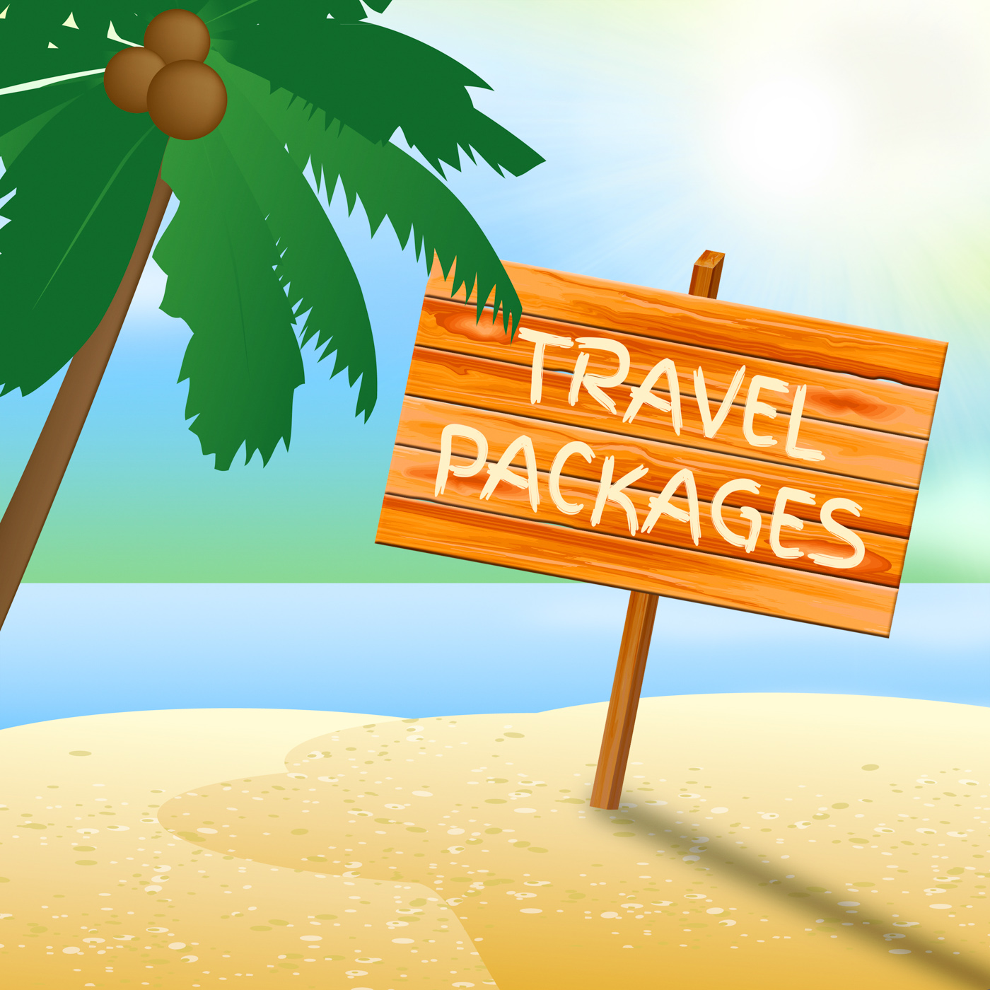 Travel packages indicates go on leave and arranged photo