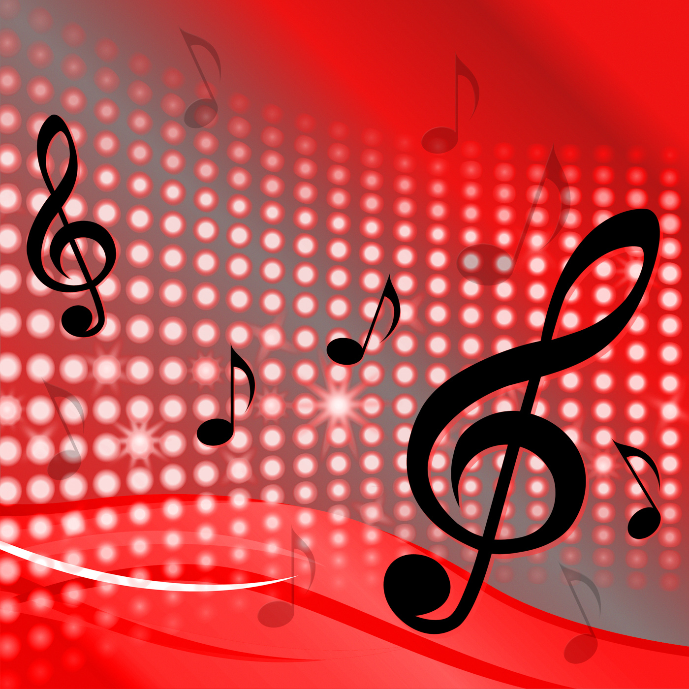 Free photo: Treble Clef Background Shows Music Notes And