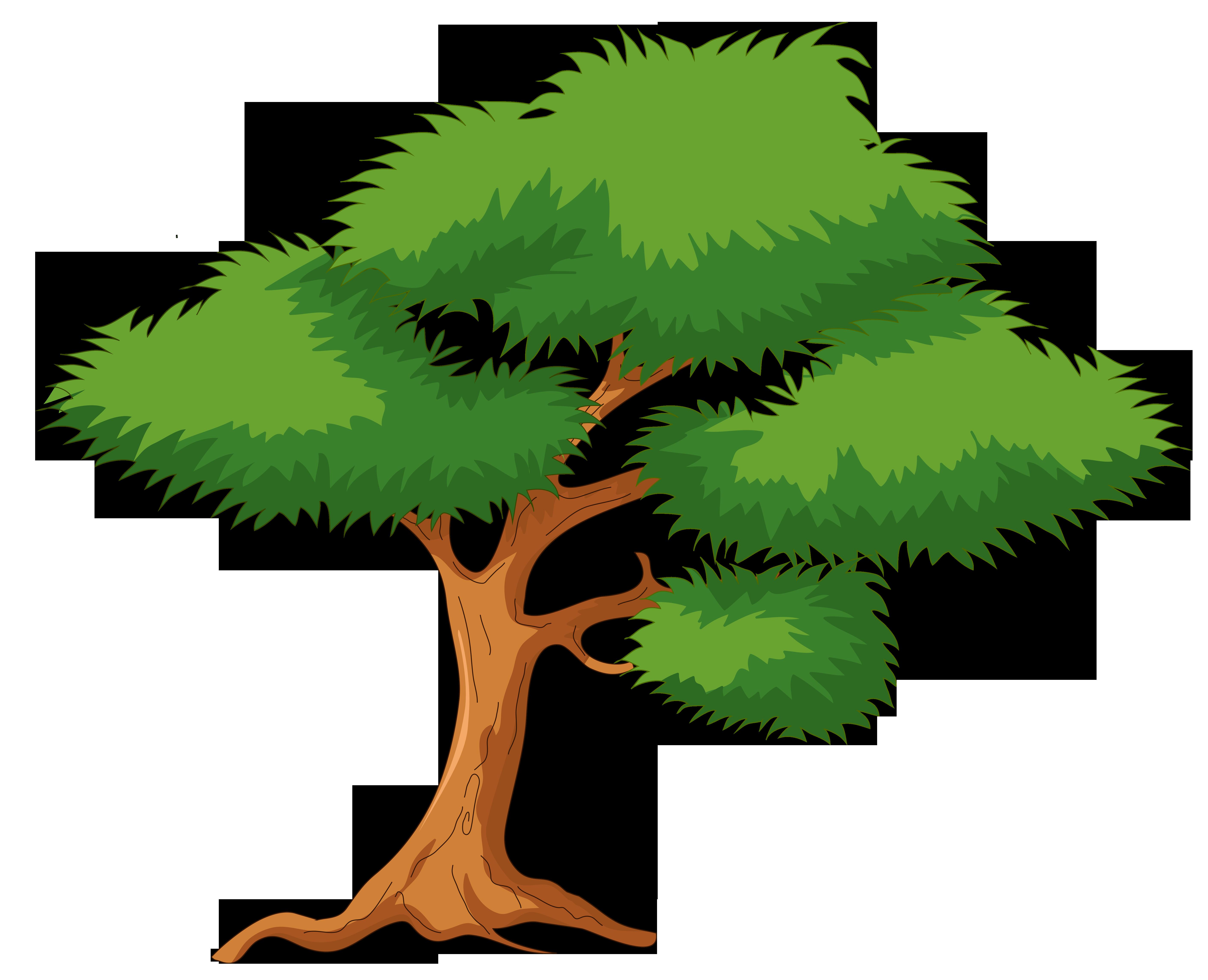 Green Cartoon Tree PNG Clip Art - Best WEB Clipart