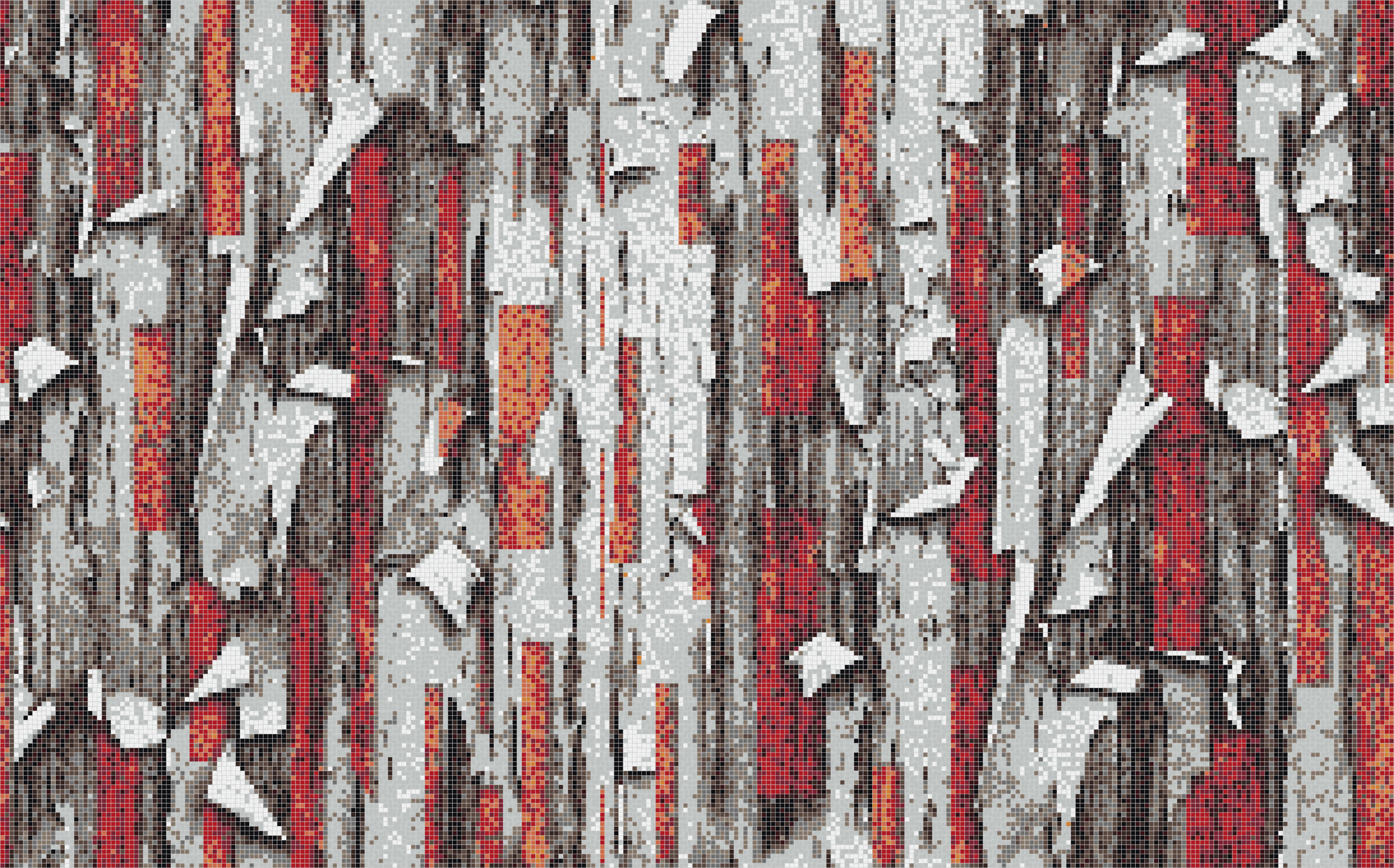 Red tree bark Tile Pattern | Timestold Flame by ARTAIC