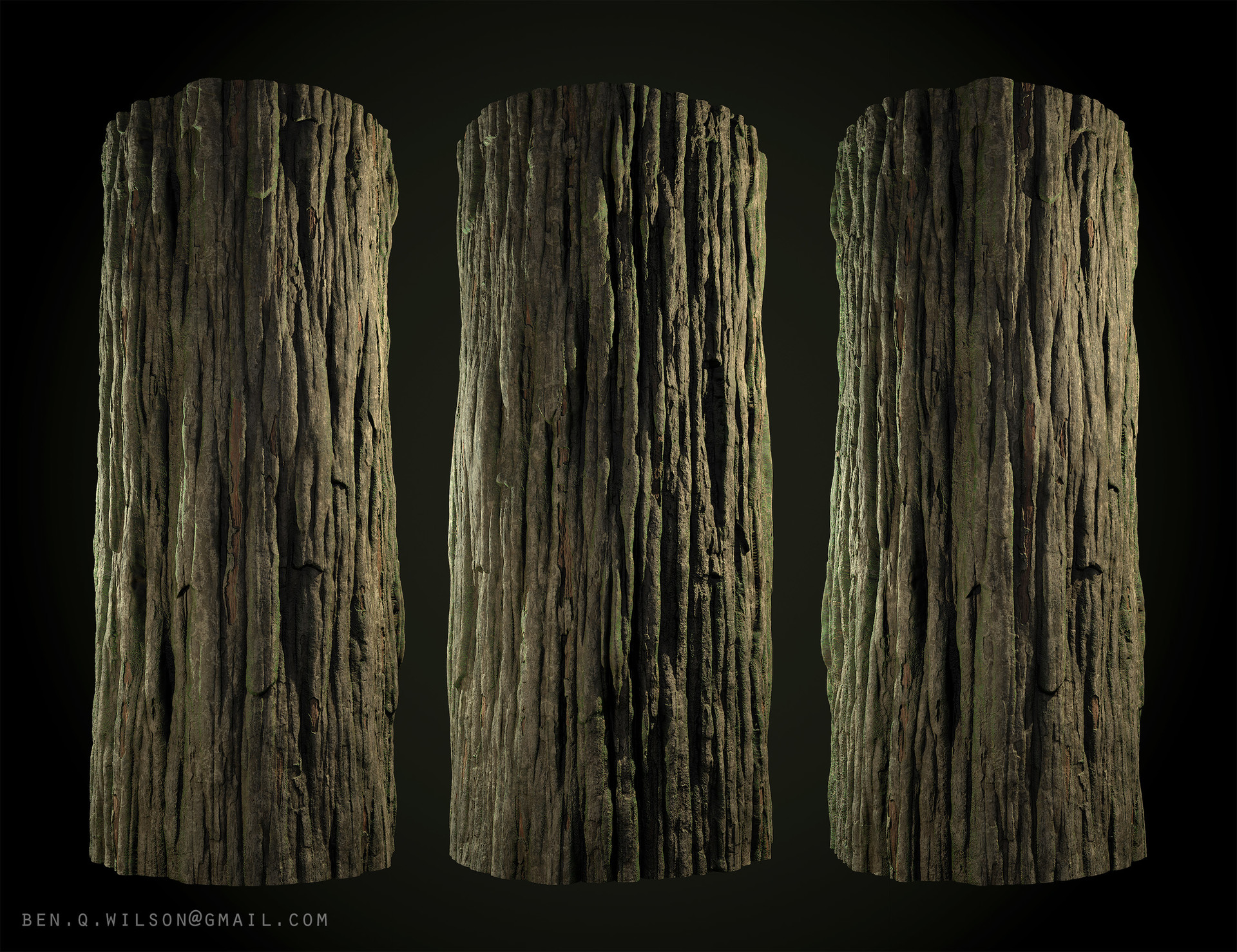 ArtStation - Redwood Tree Bark, Ben Wilson