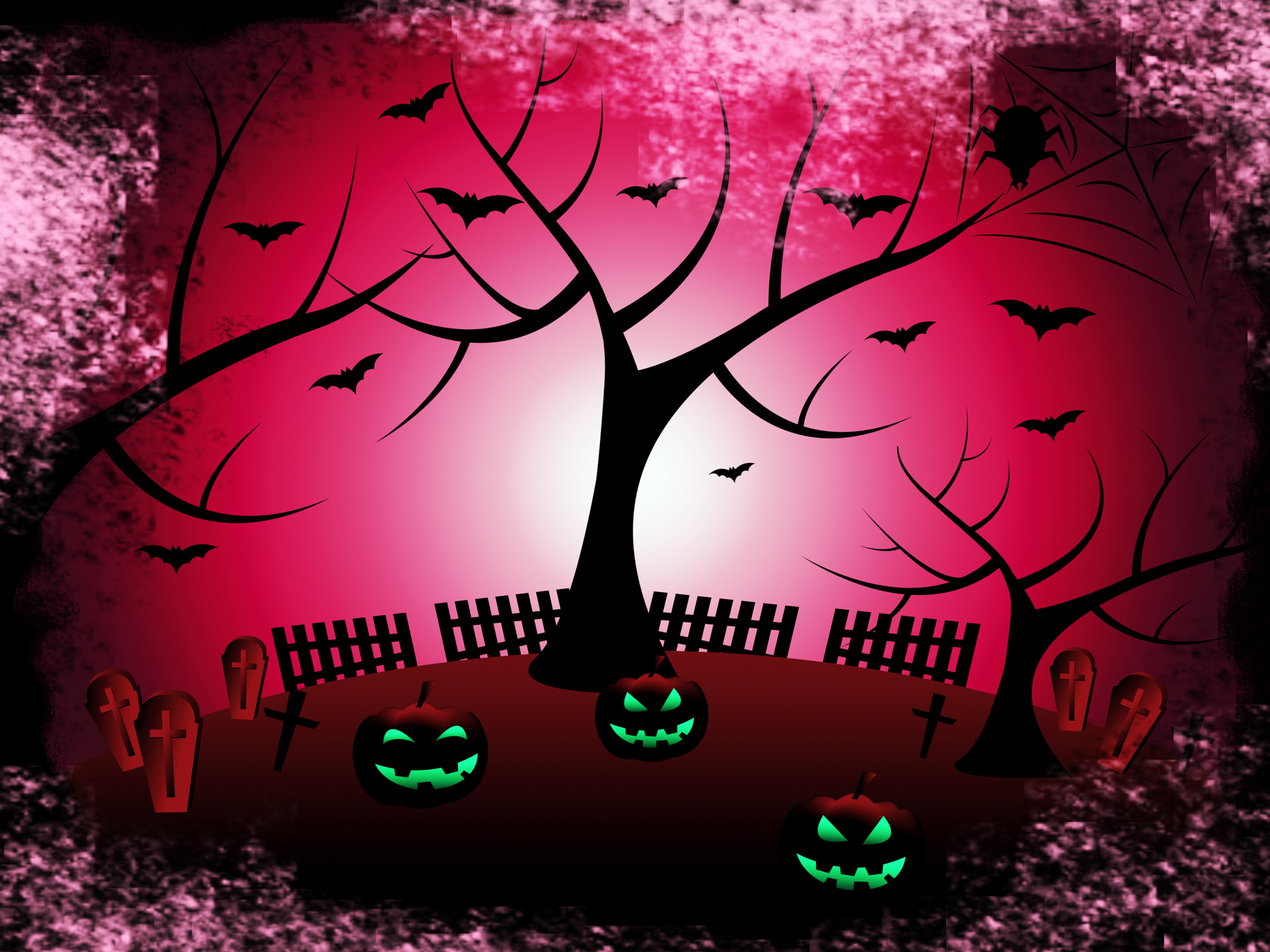 Tree halloween shows trick or treat and autumn photo