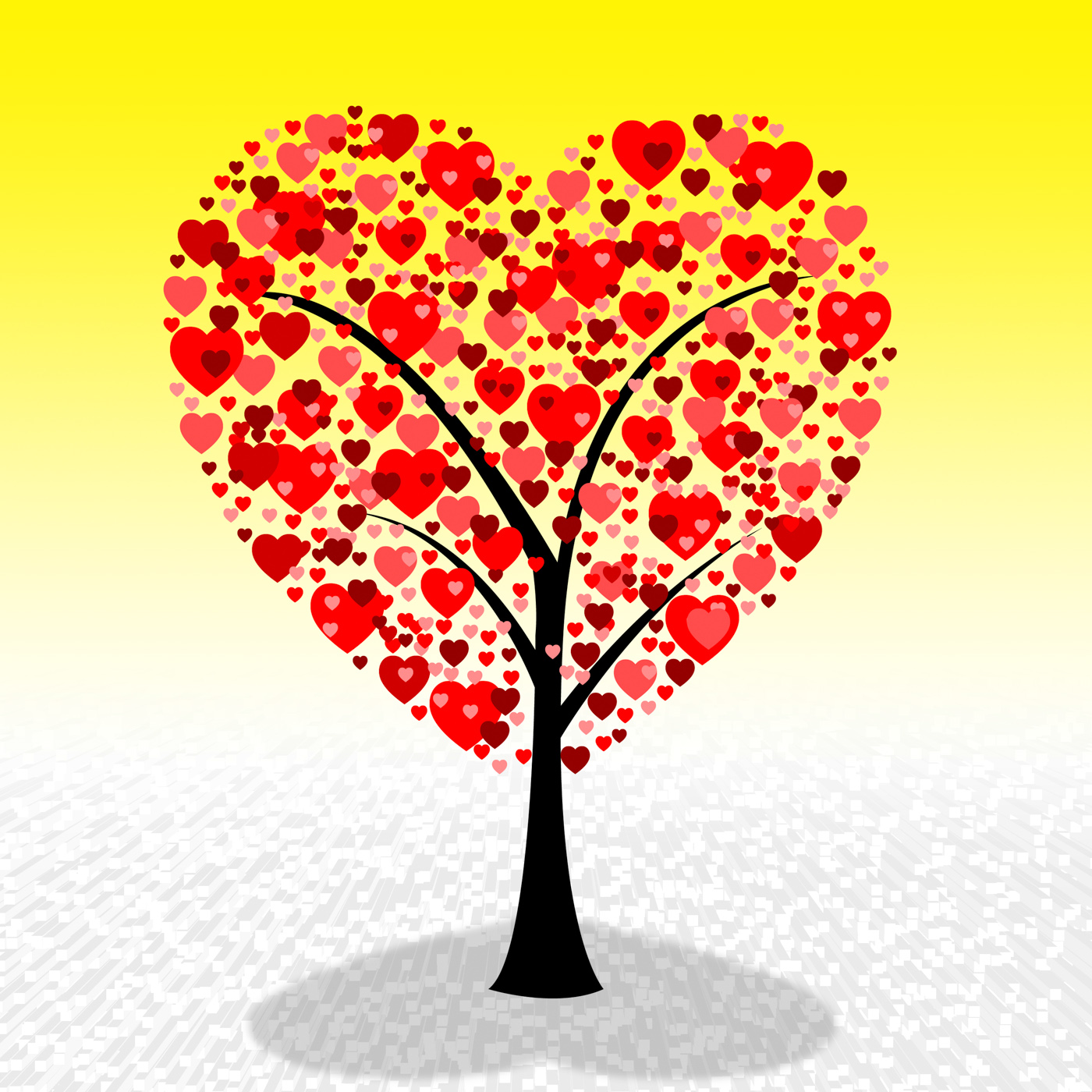 Tree hearts represents valentine day and environment photo
