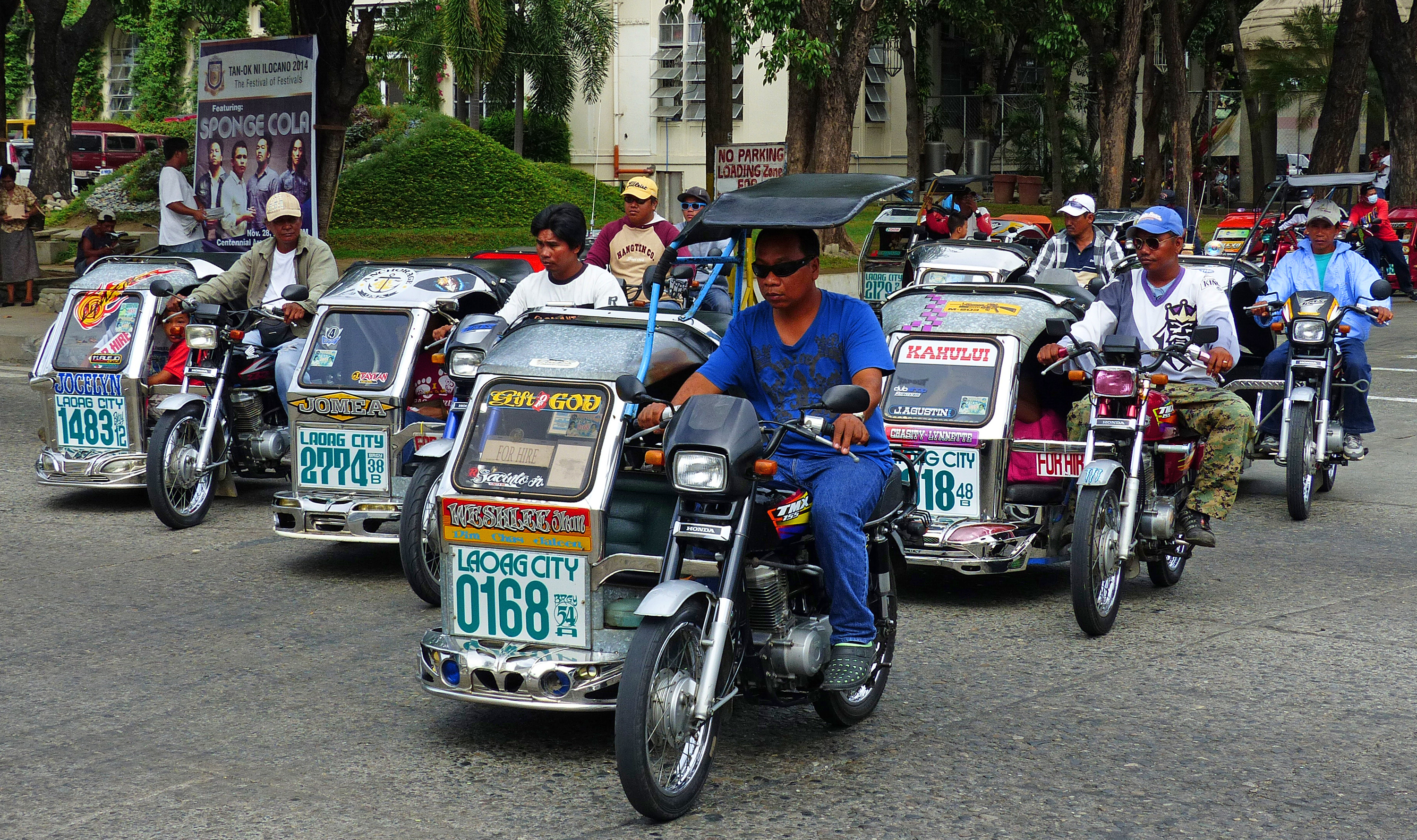 Tricycle taxis laoag city. photo