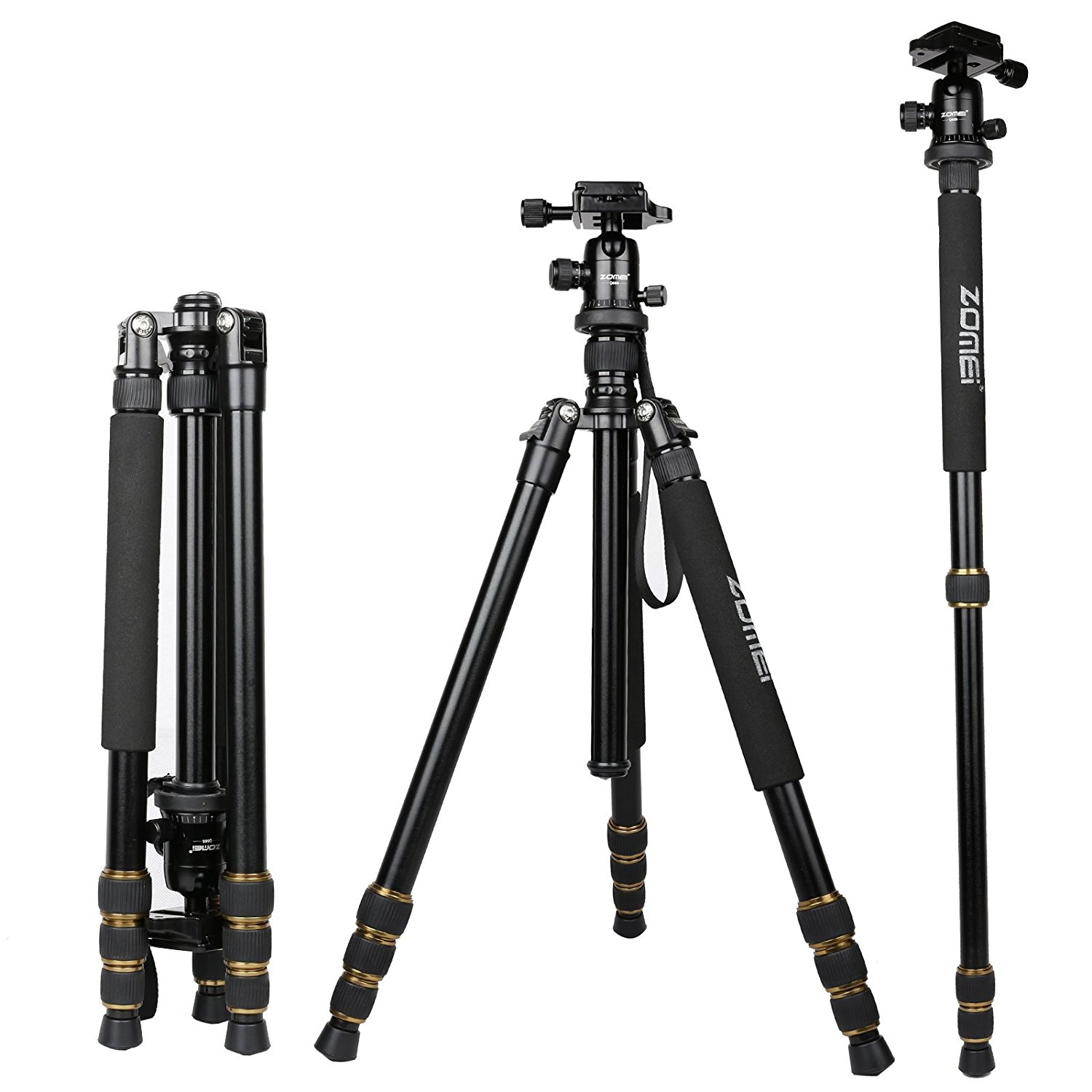 Amazon.com : ZOMEI Q666 Proline Tripod with Ball Head for Cameras ...