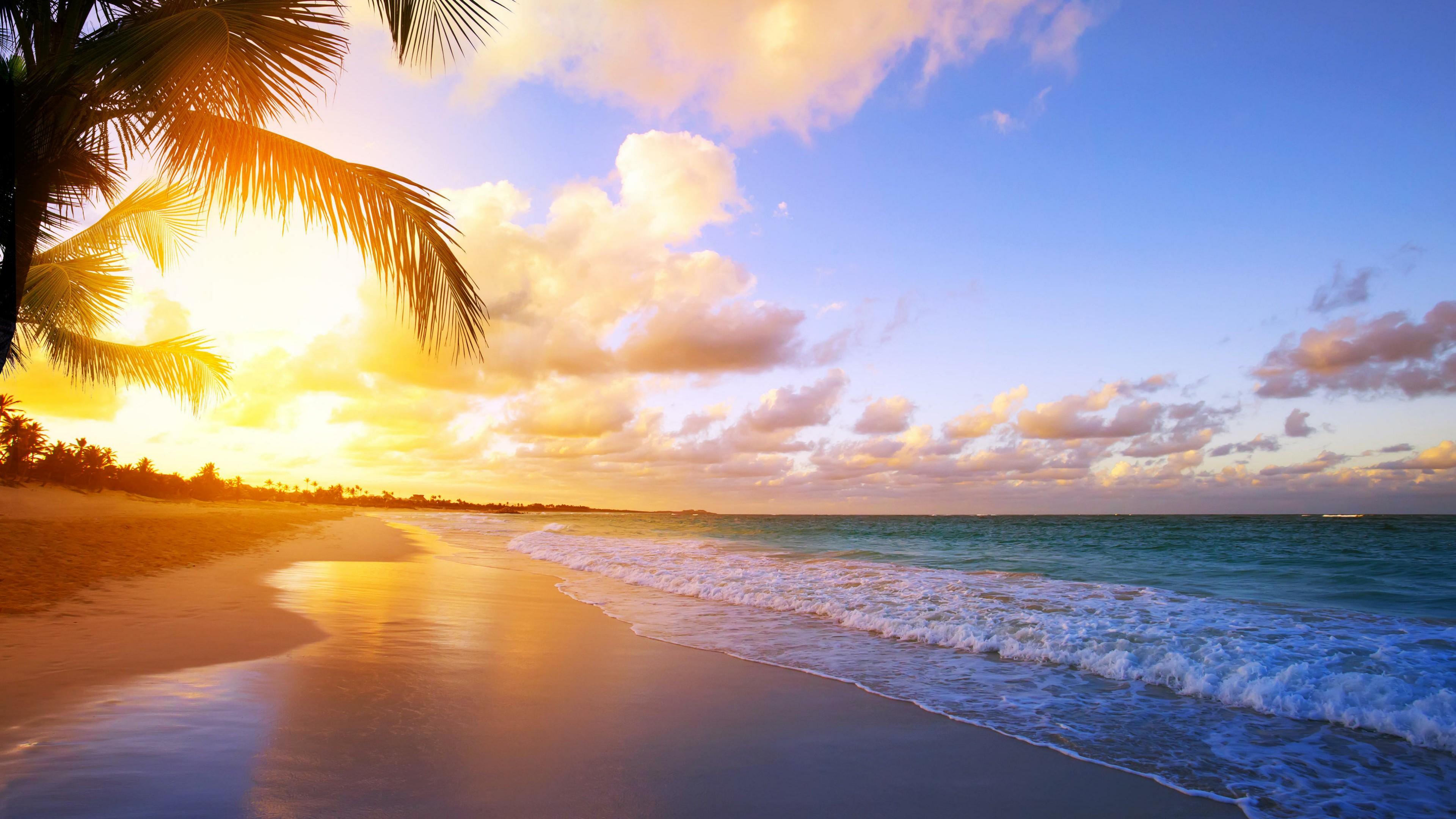 Tropical Beach Sunrise Wallpaper   Wallpaper Studio 10   Tens of ...