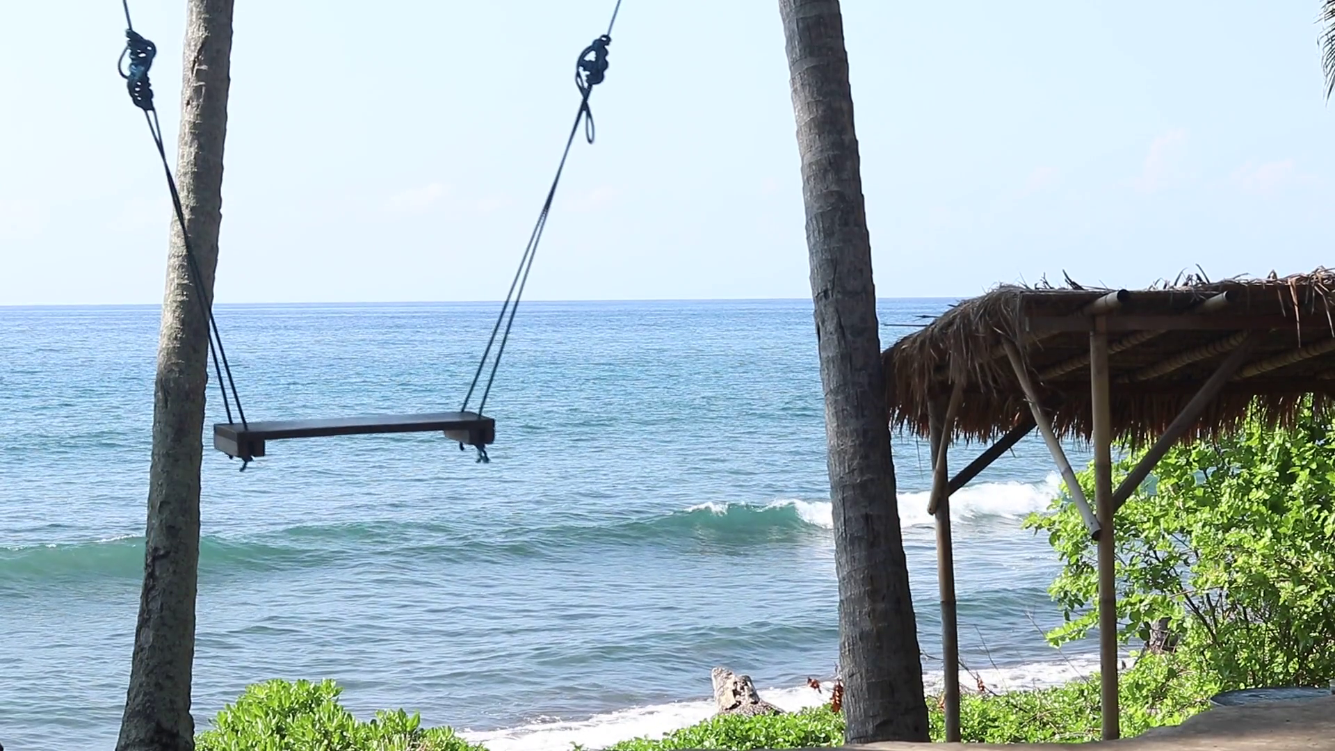 Lonely empty Swing On The Nature Background. Tropical island Bali ...