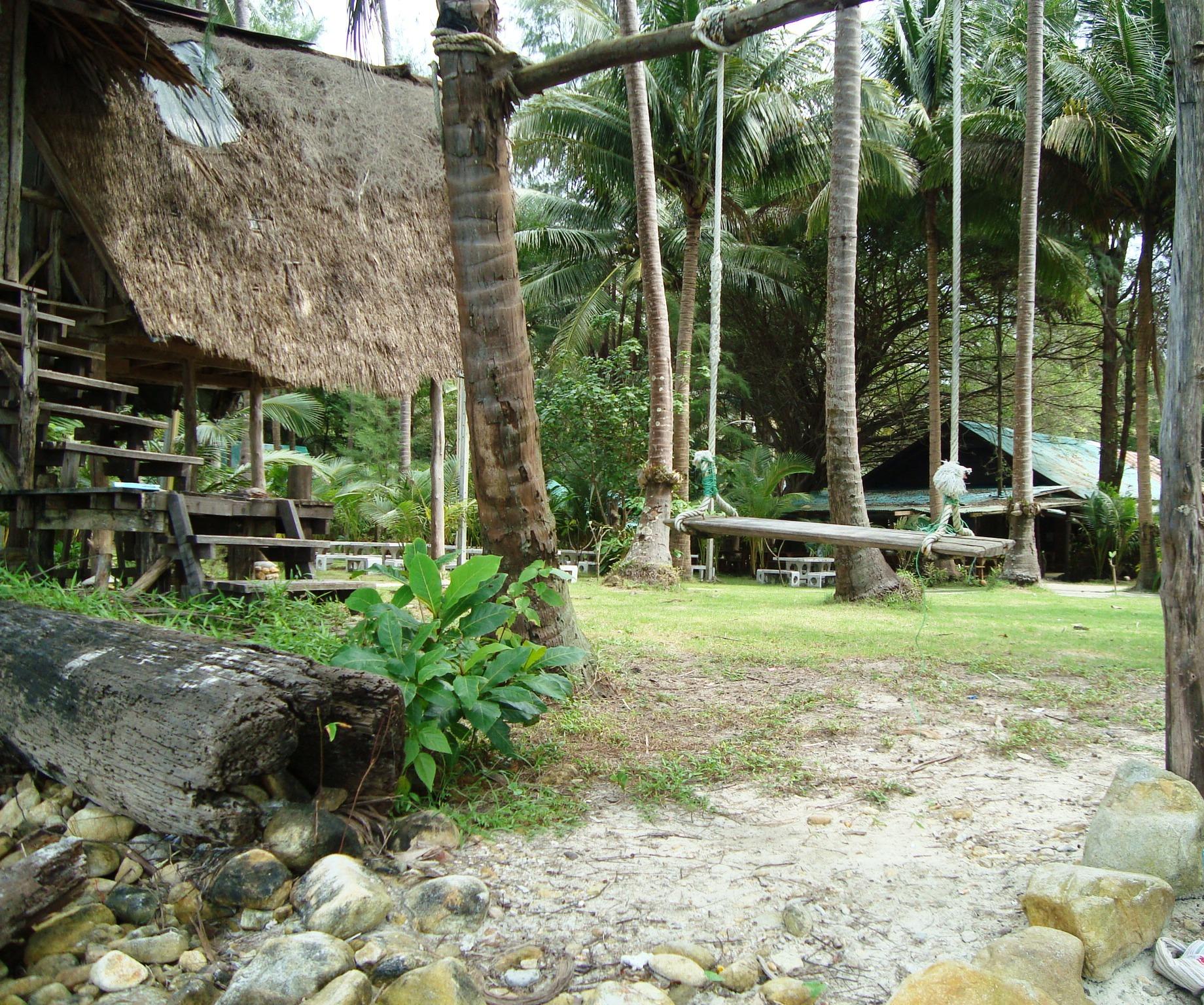 Tropical Beach Swing, Asia, Summer, Wood, Tropical, HQ Photo