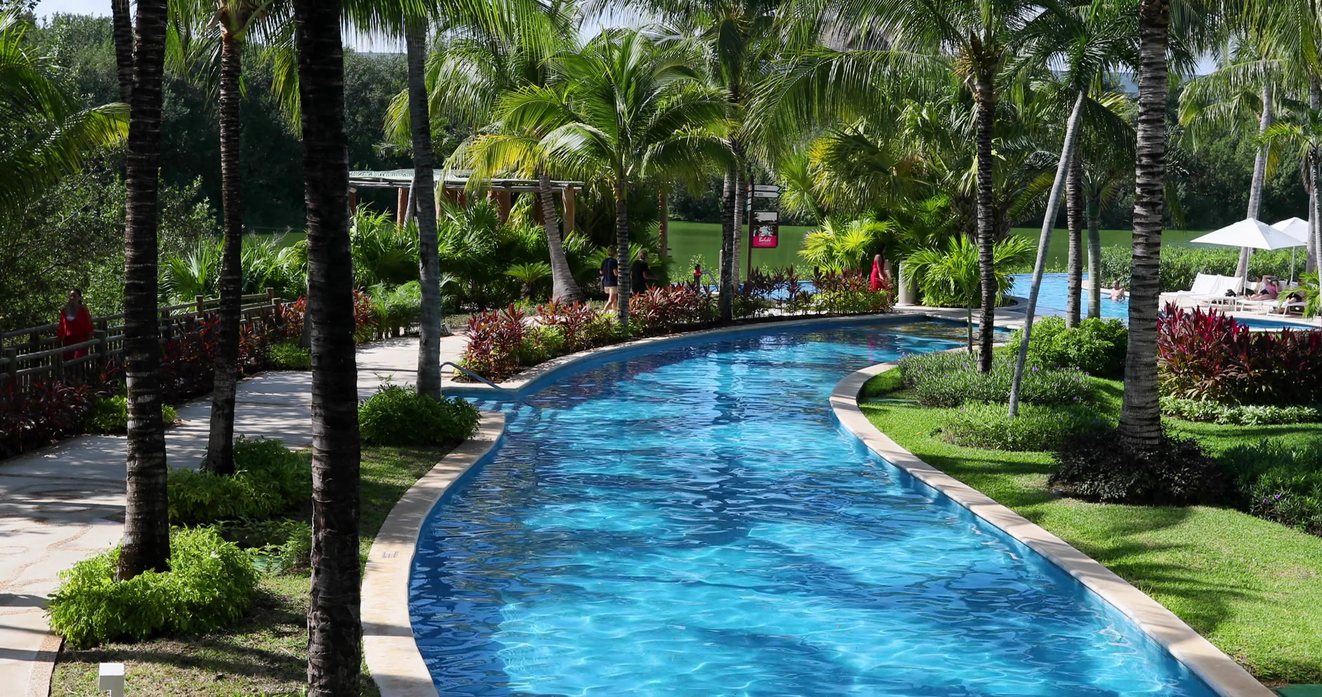 Mexico Bridge Over Beautiful Tropical Swimming Pool Dci 4K 404 ...