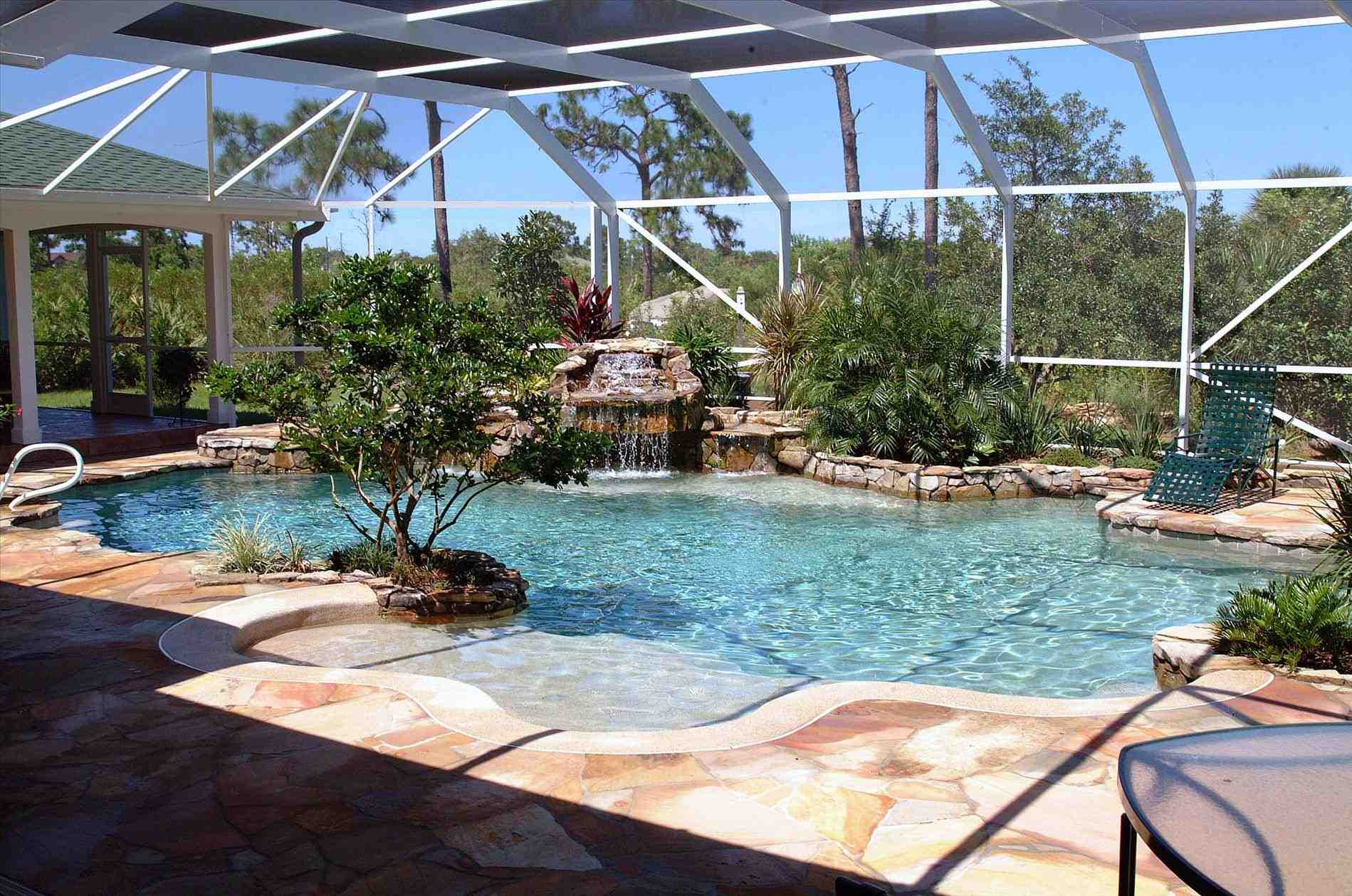 Tropical swimming pool photo