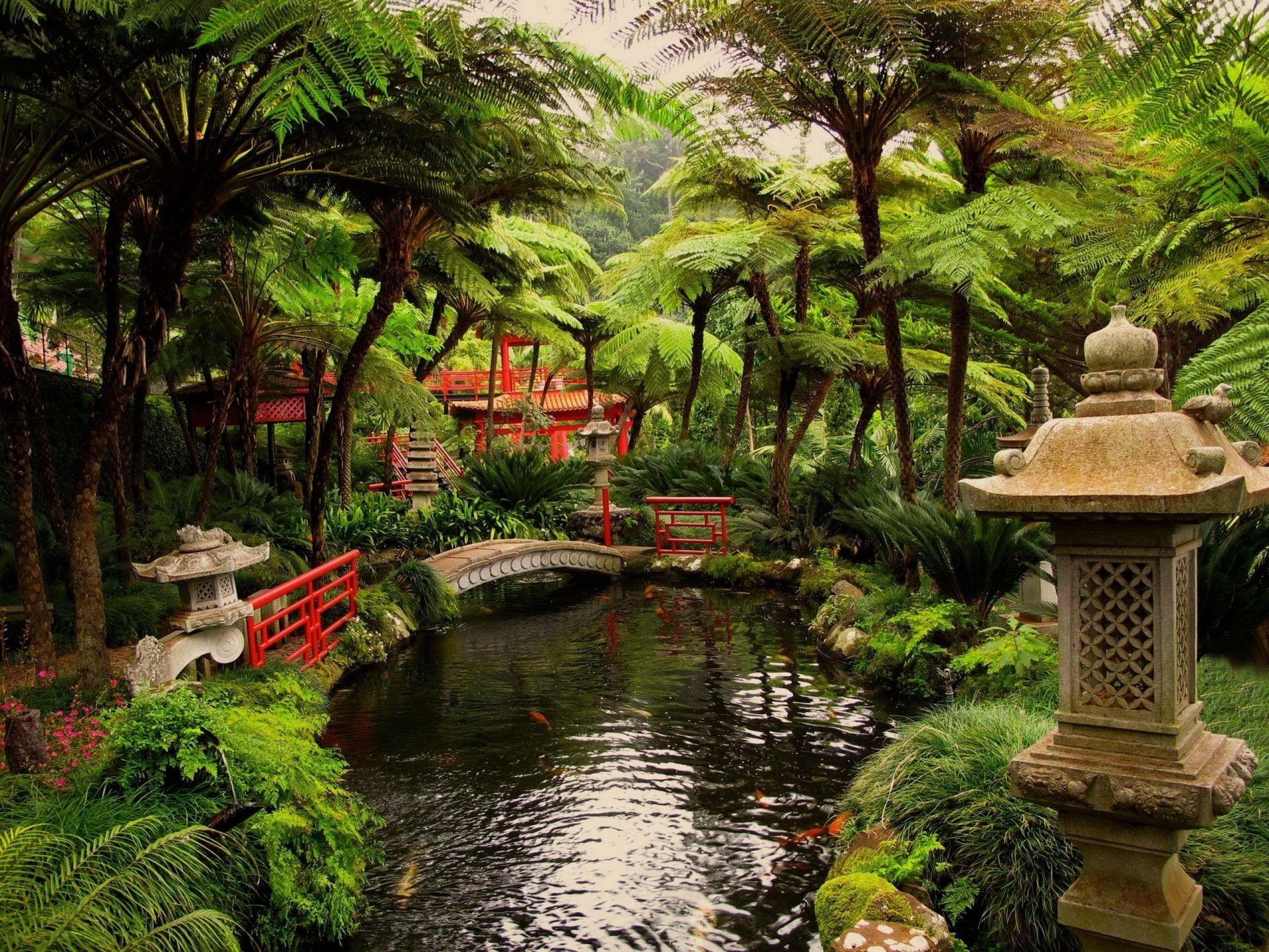 Japanese #Garden [Nature • Miscellaneous] #bridge #desktop ...
