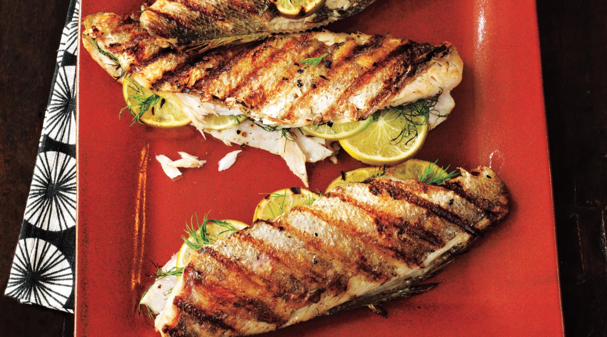 Trout fish barbecue photo