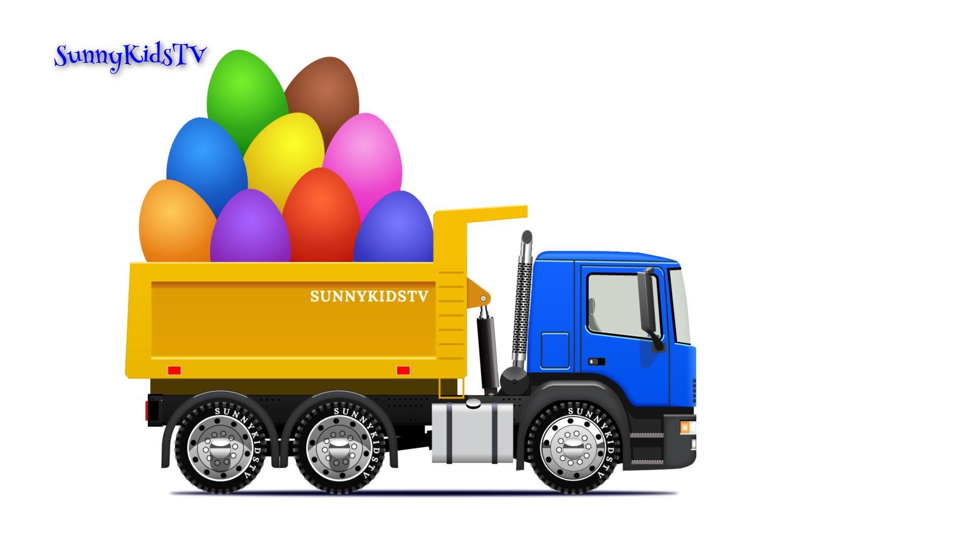 Trucks for kids. Dump Truck. Surprise Eggs. Learn Fruits. Video for ...