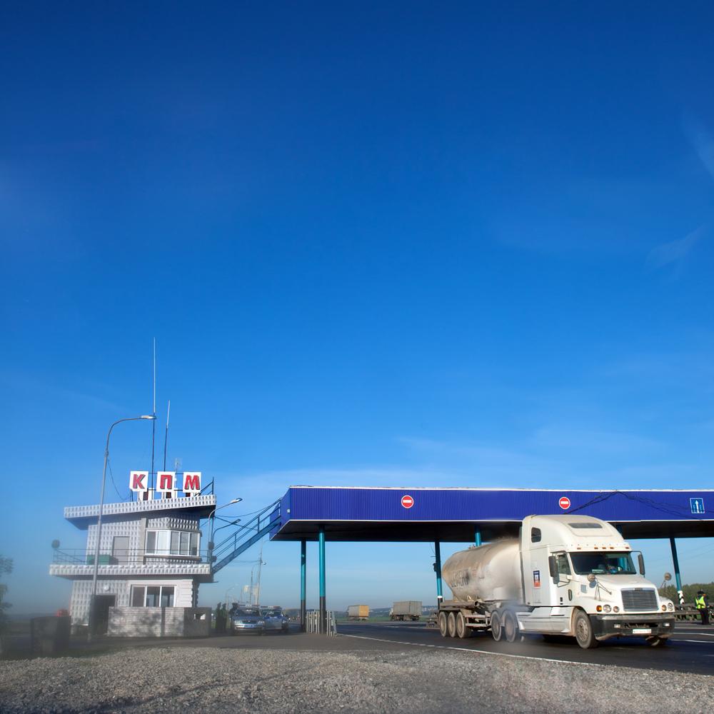 Truck, Asphalt, Traffic, Vehicle, Ufa, HQ Photo