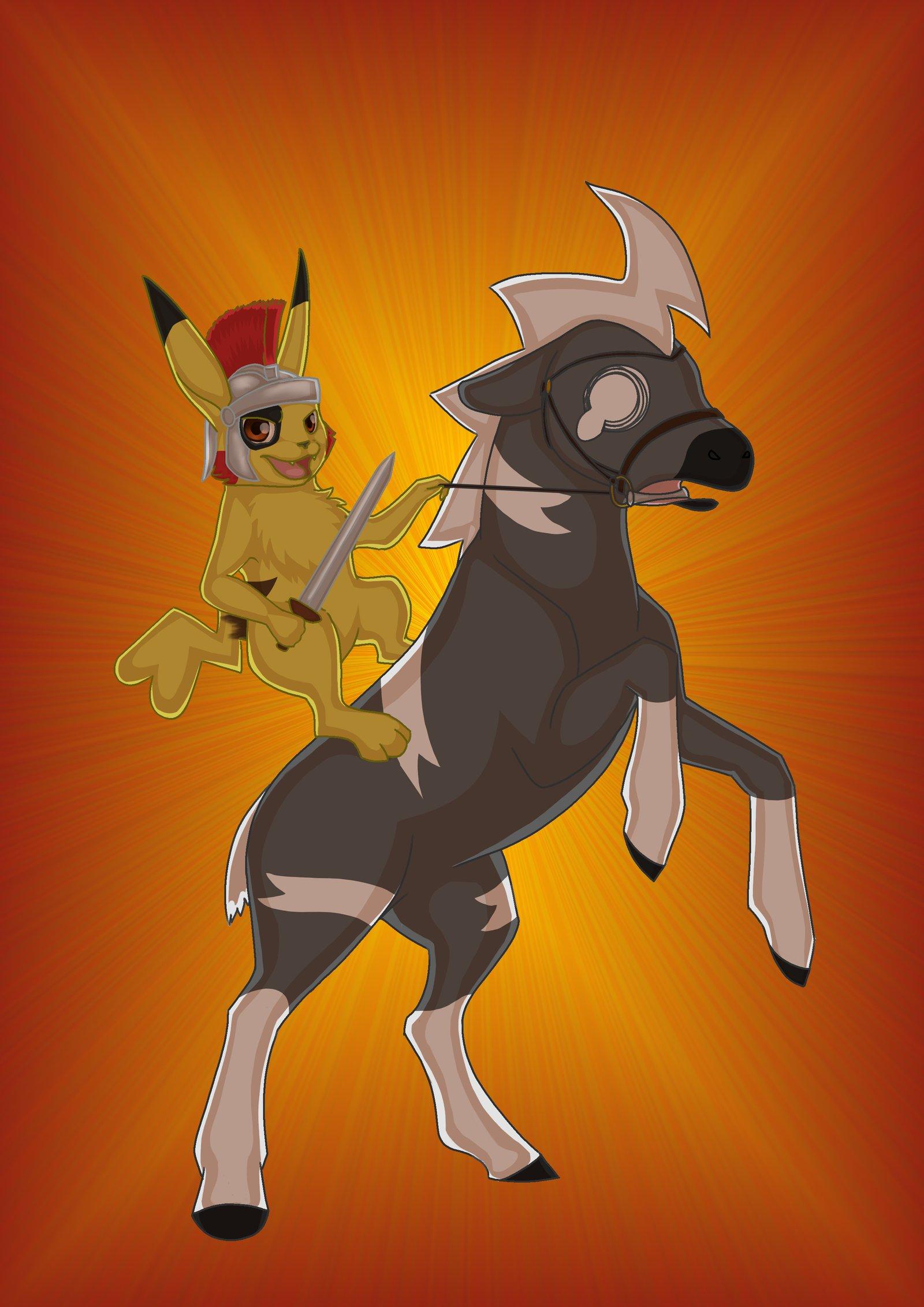 Onward, my trusty steed! by IndigoBlackbird on DeviantArt