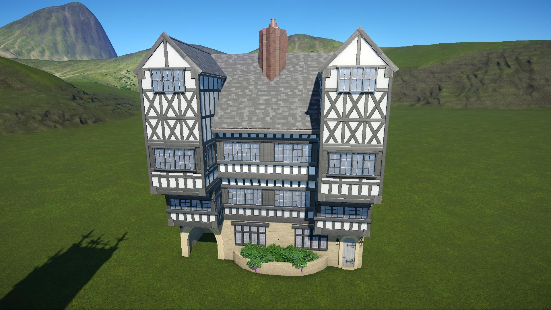 A 4 storey jettied Tudor Hall : PlanetCoaster
