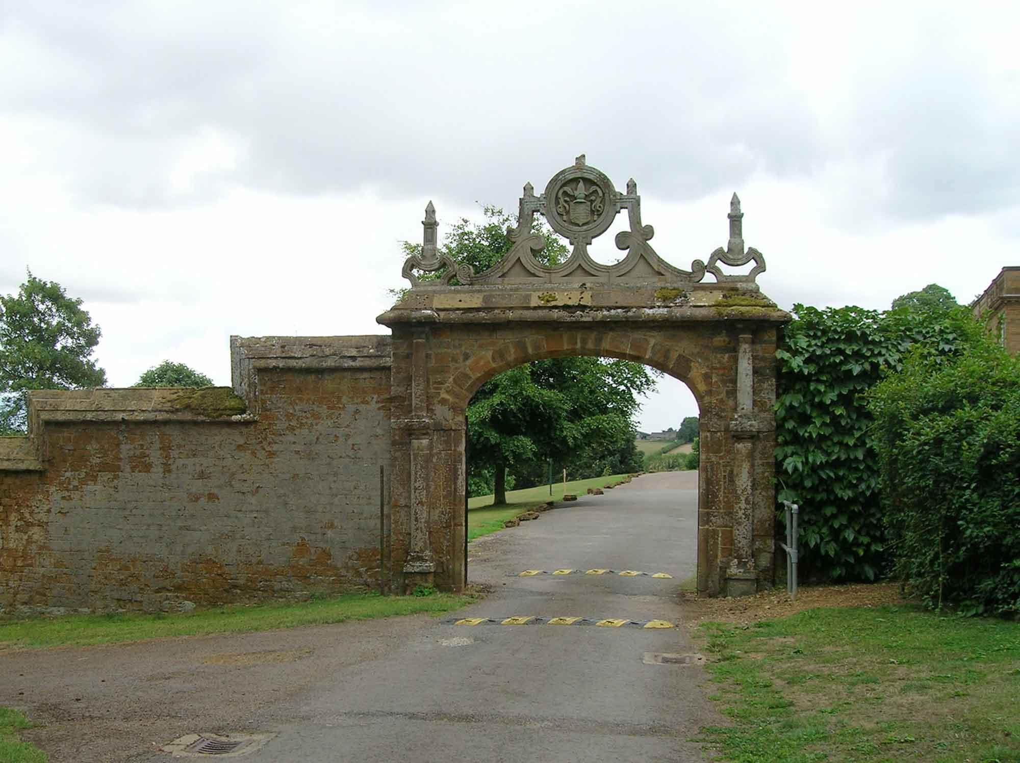 File:Stone arch on main driveway, Tudor Hall School-geograph-2000333 ...