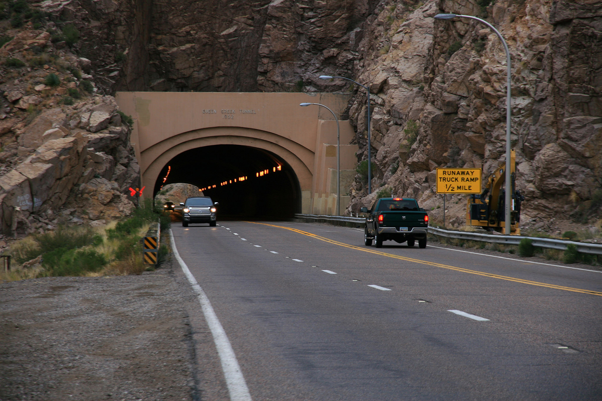 Queen Creek Tunnel on US 60 receives LED lighting system