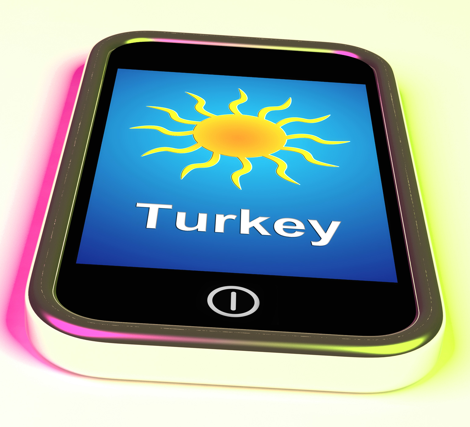 Turkey On Phone Means Holidays And Sunny Weather, Break, Sunlight, Weather, Vacation, HQ Photo