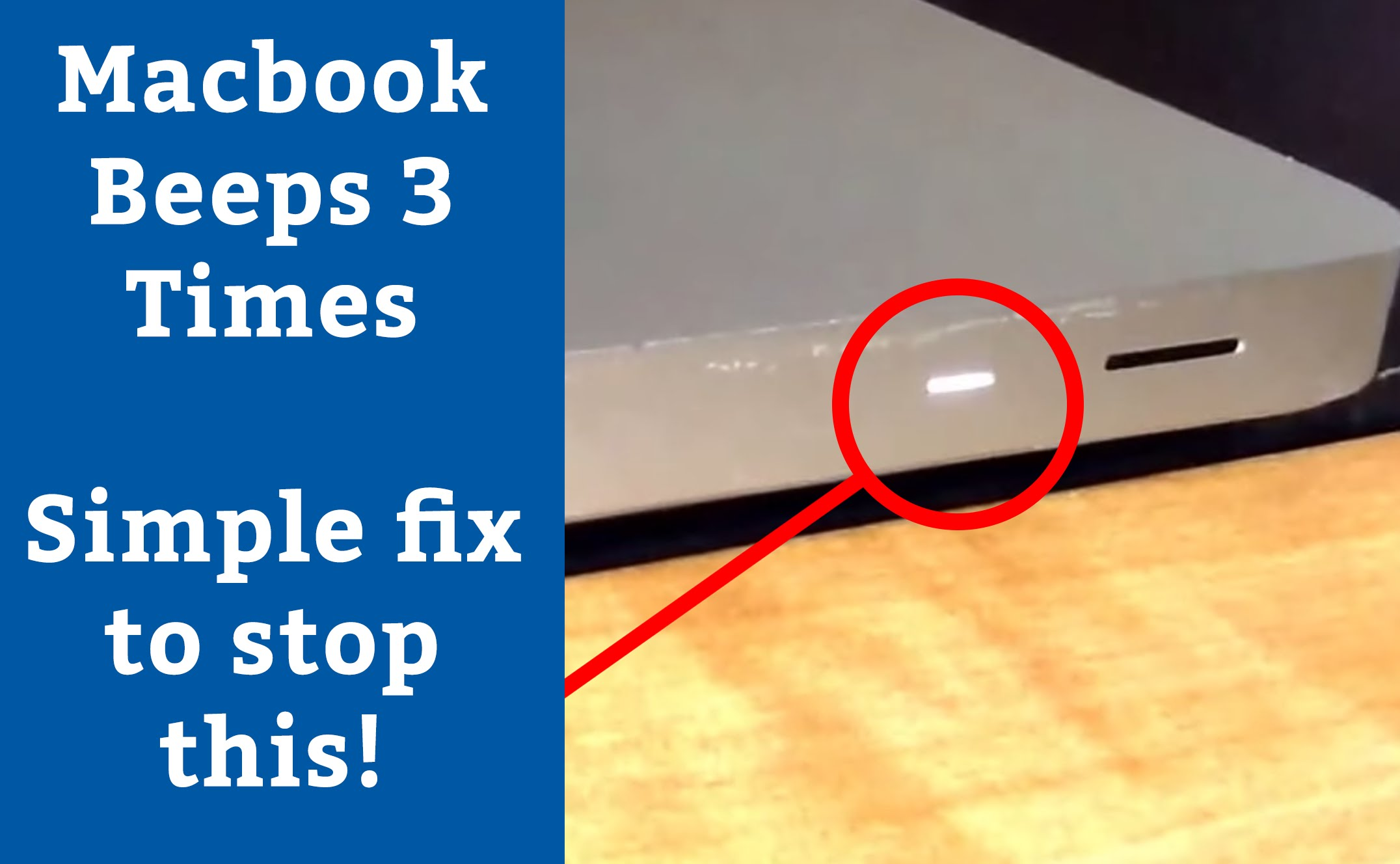 MacBook beeps three times won't turn on. Fix for 3 beeps. - YouTube