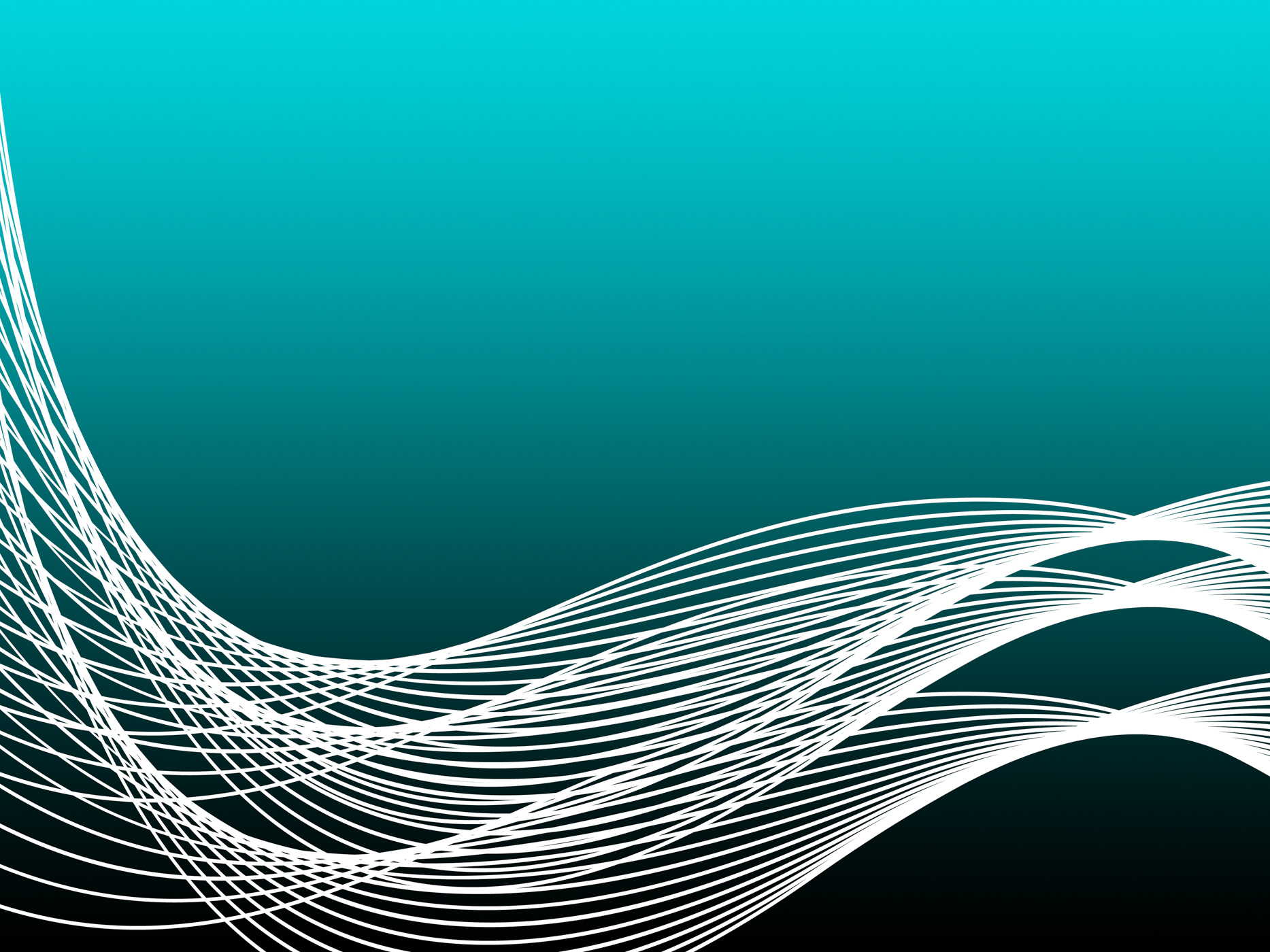 Turquoise curvy background shows graphic design or modern art photo