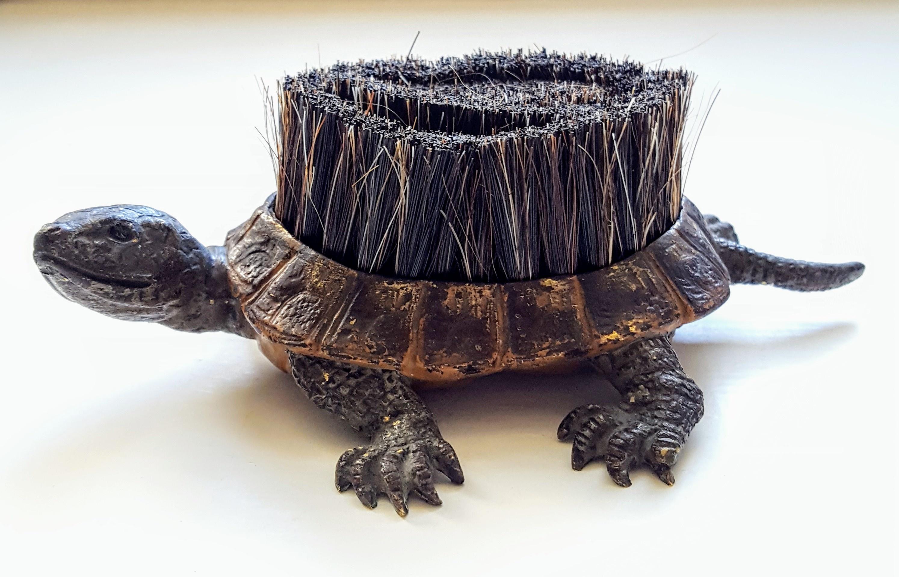 Kyratisation of the Vienna bronze turtle pen wipe.   Collectors Weekly