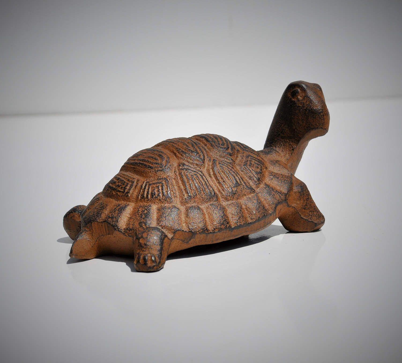 Turtle, Cast Iron, Paperweight, Ocean Life Figurine, Beach Décor ...