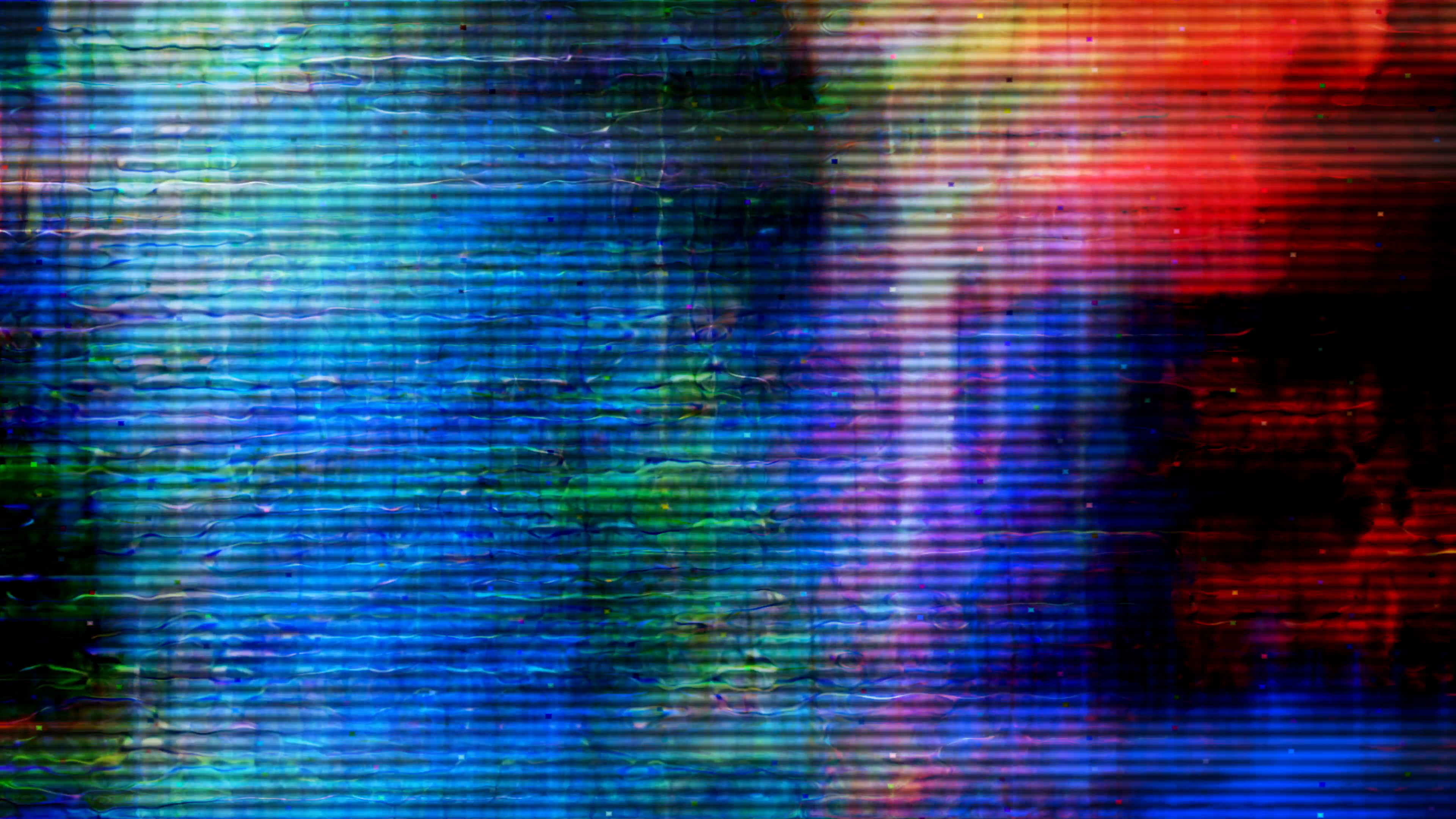 Video Flux 040: TV screen pixels fluctuate with color and video ...