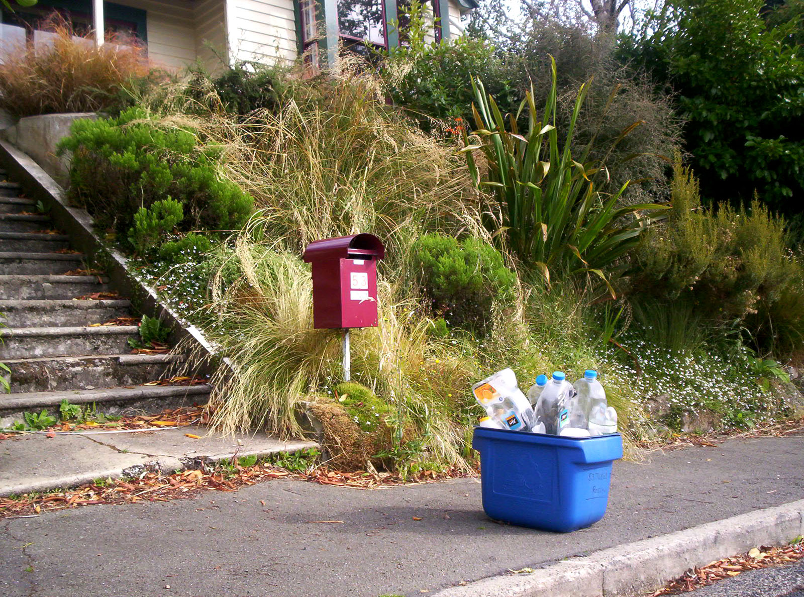Tweed recycling and letterbox photo
