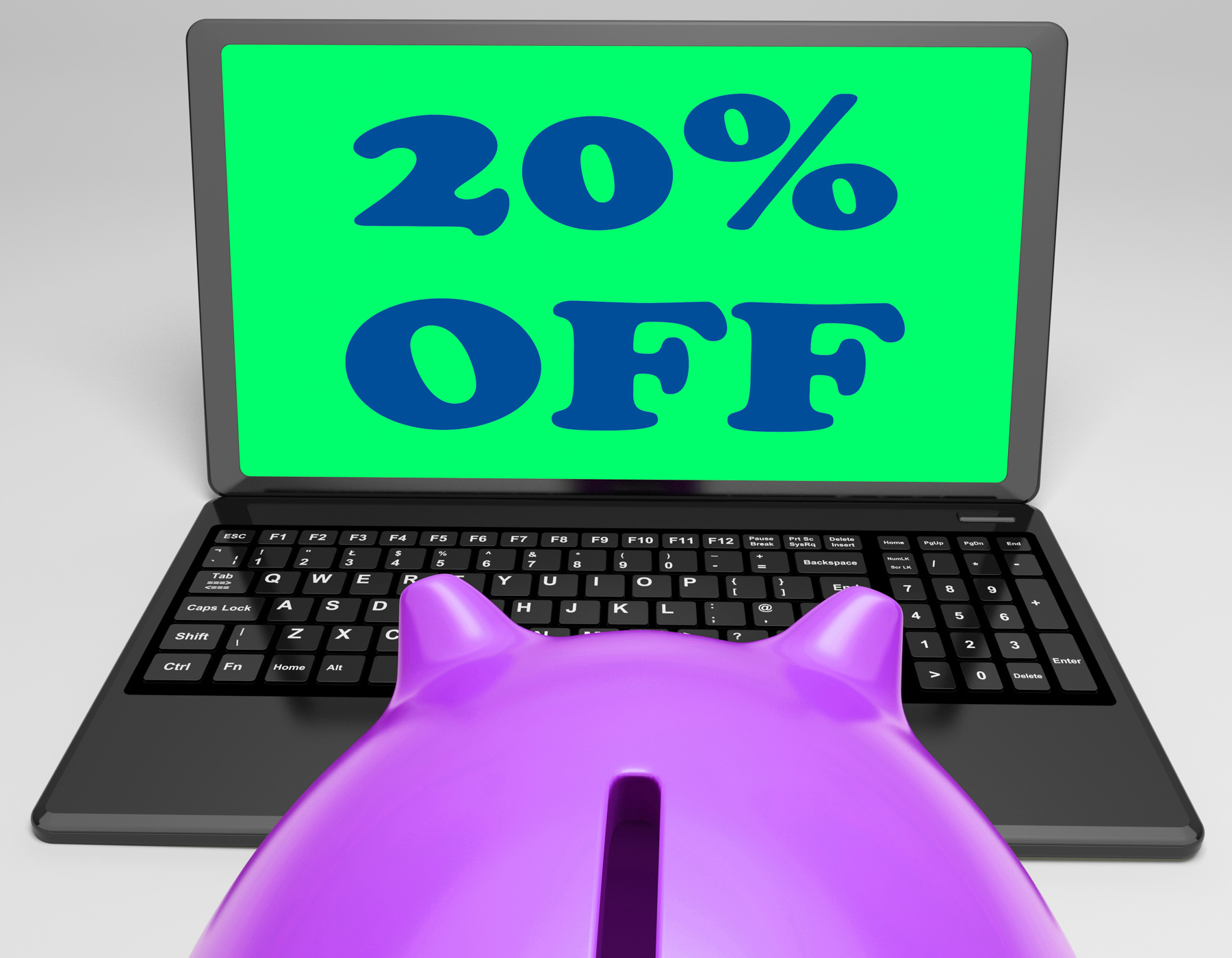 Twenty percent off laptop shows 20 discounts online photo