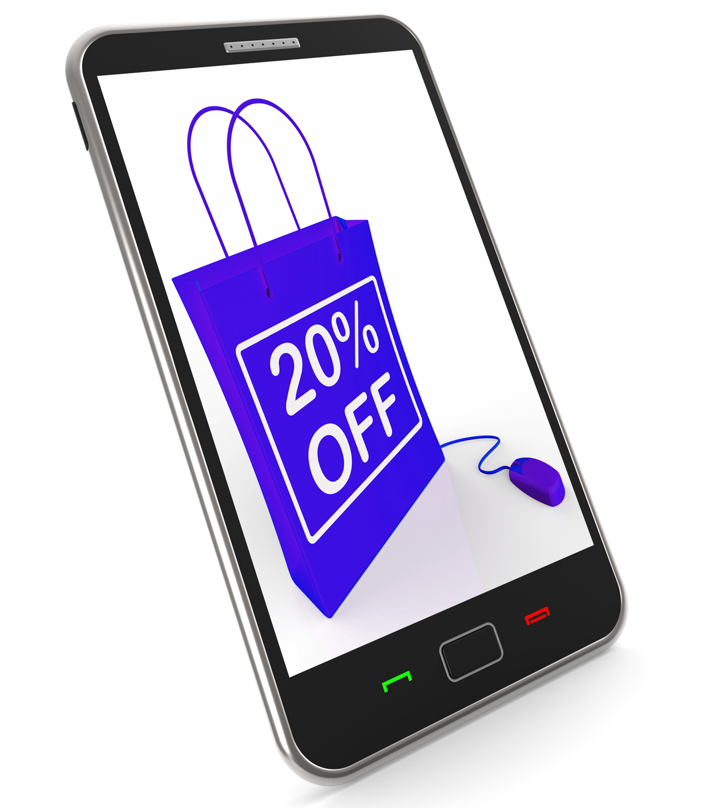 Twenty percent off phone shows online sales and discounts photo