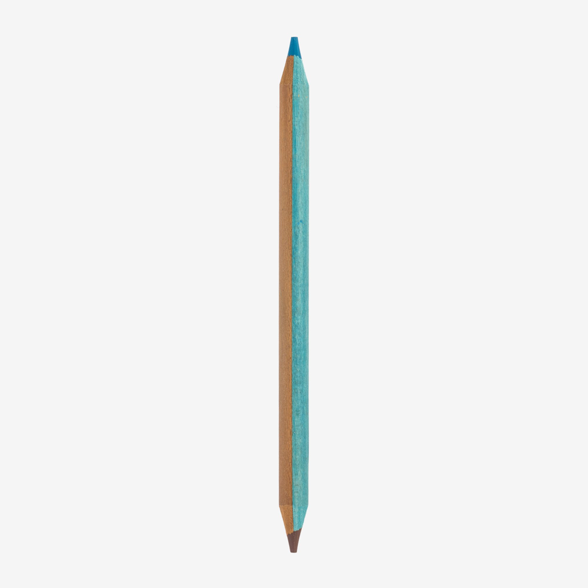 TWO-COLOUR PENCIL - LIGHT BLUE AND BROWN