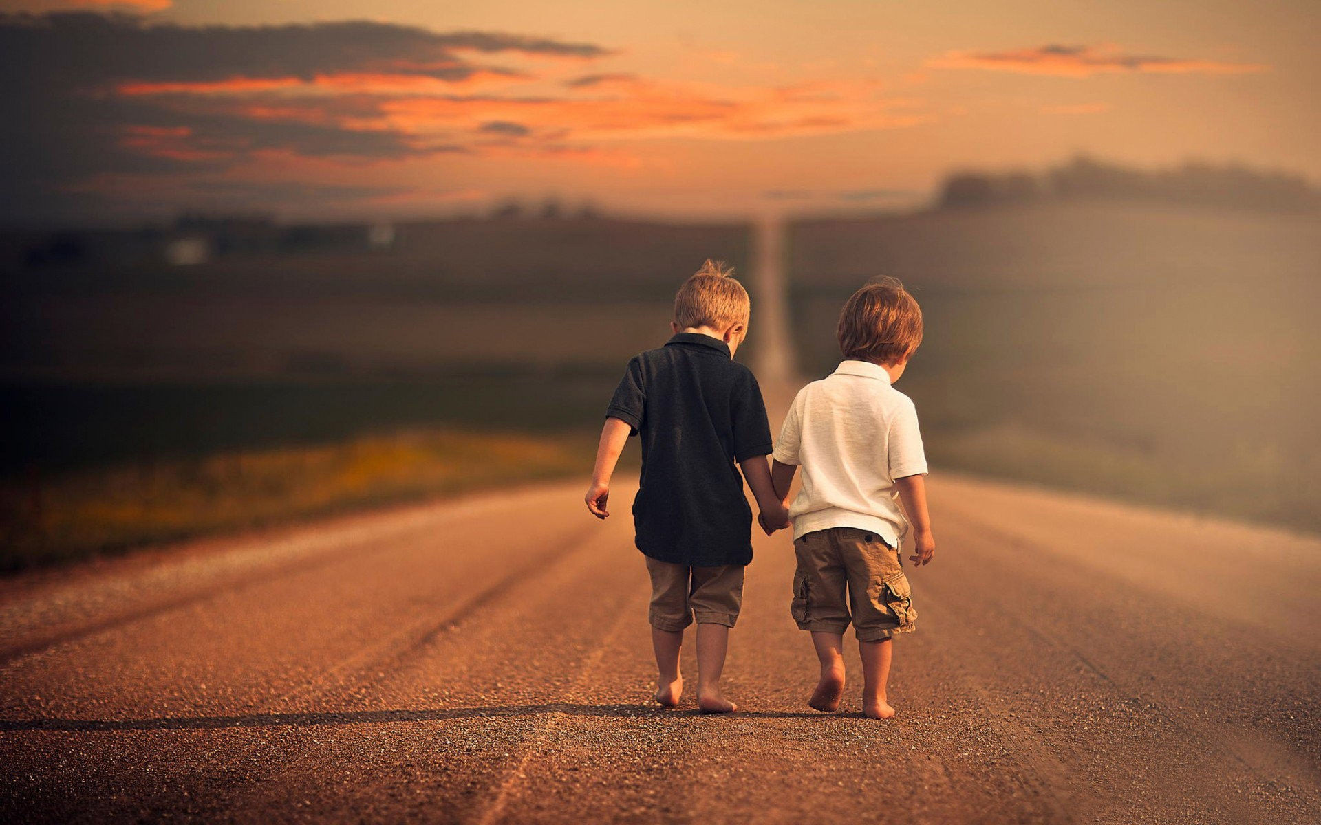 Two Friends Walking Down The Road Photography HD Wallpaper ...