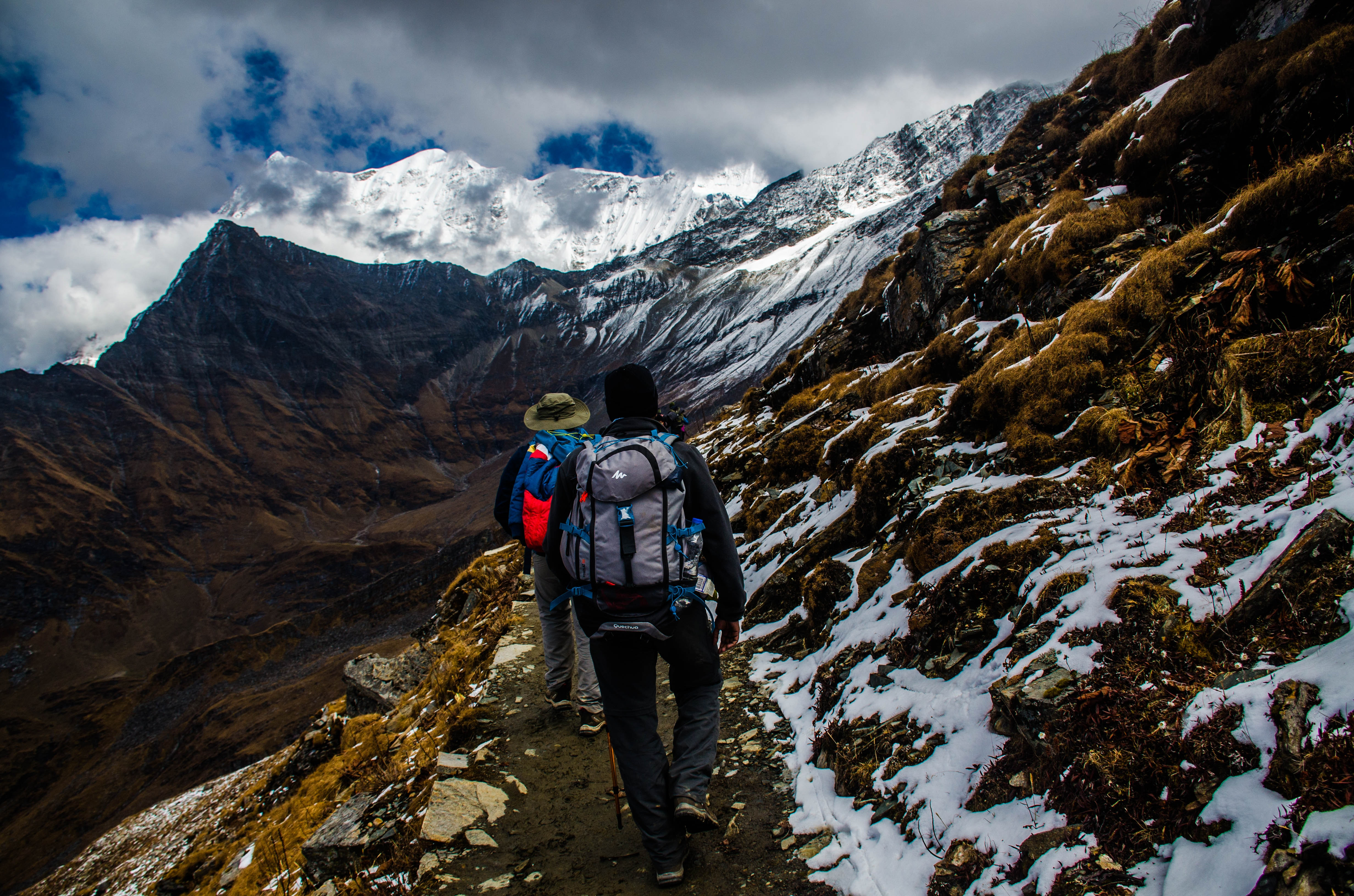 Two Mountaineers in Mountain, Adventure, Mountain peak, Travel, Snow, HQ Photo