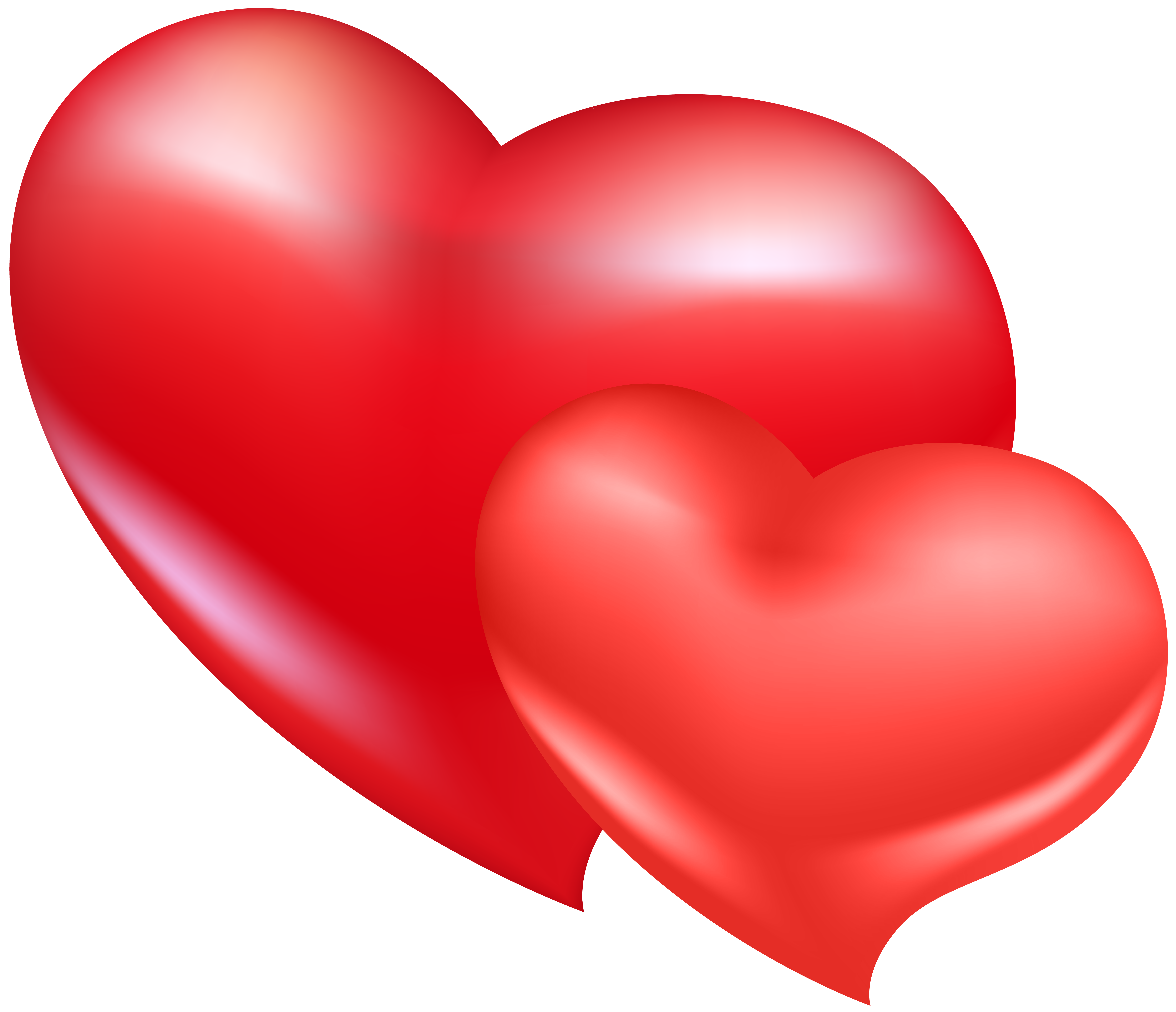 Two Red Hearts PNG Clip Art Image | Gallery Yopriceville - High ...