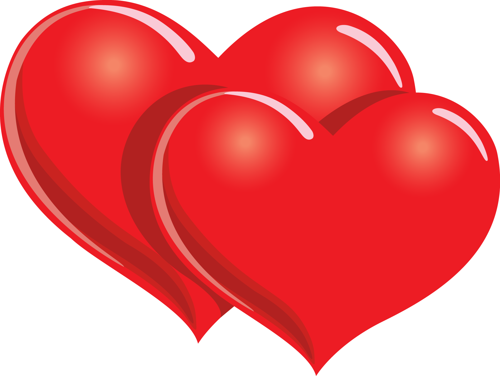Two Red Hearts | Clipart Panda - Free Clipart Images
