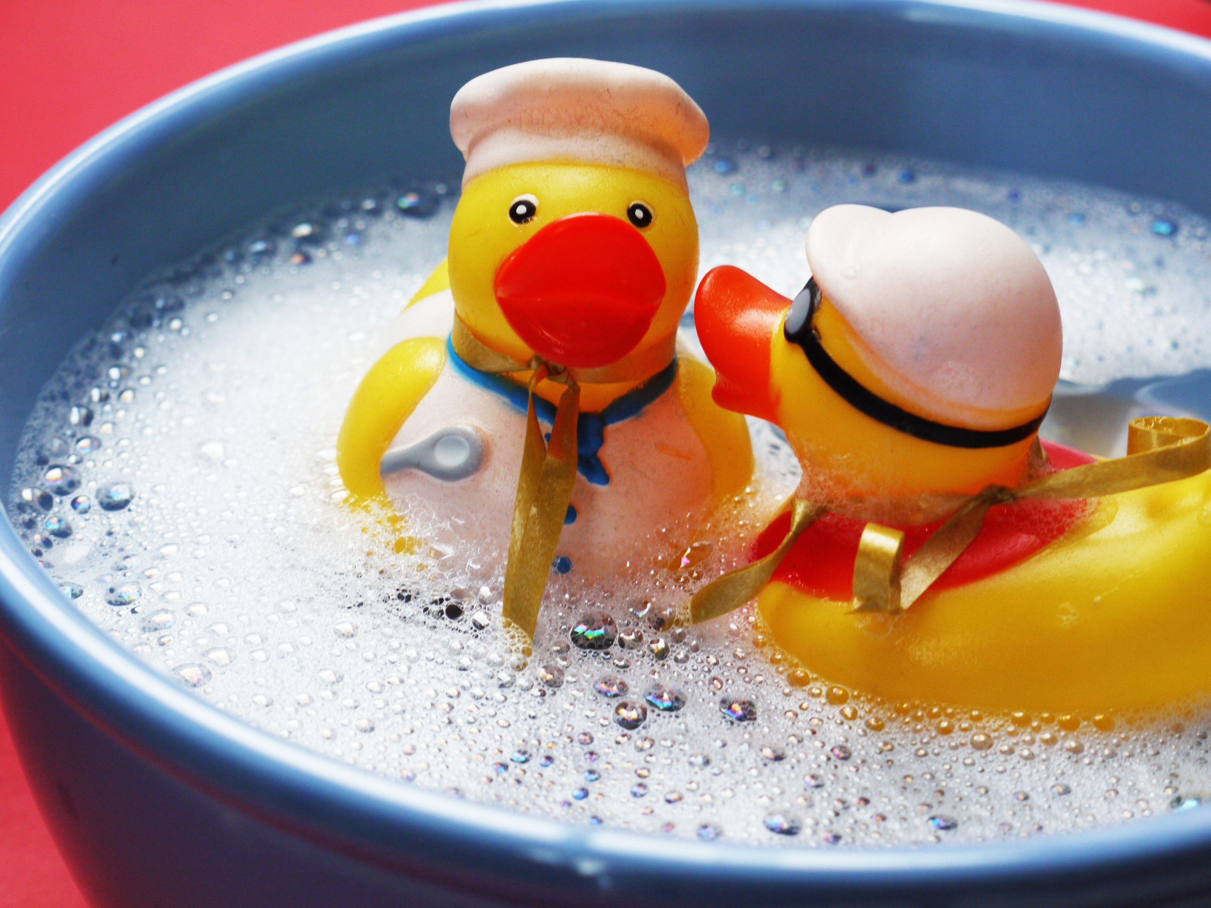Free photo: Two Rubber Ducks on Water - water, toys, floating - CC0 ...