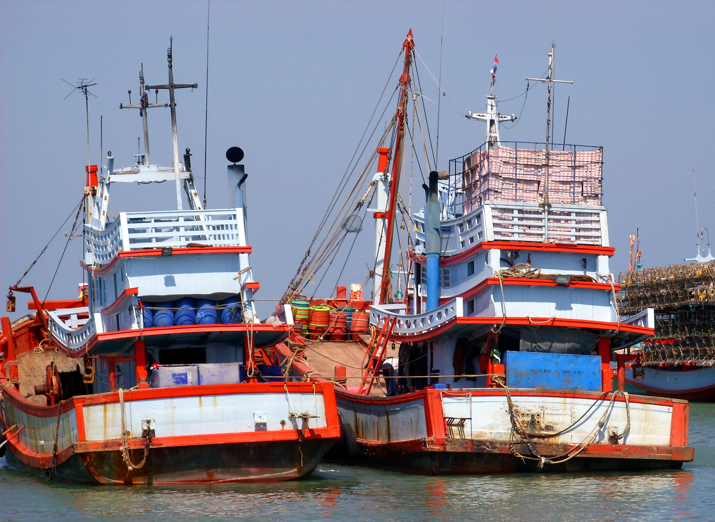Two thai fishing boats photo