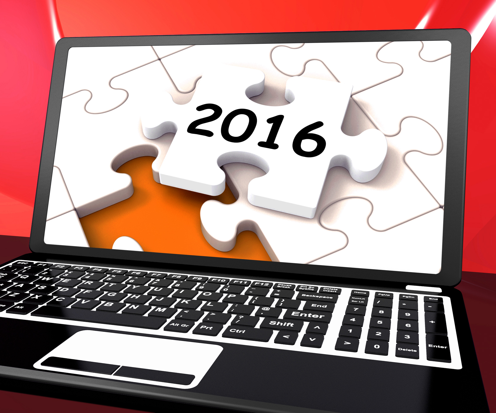 Two thousand and sixteen on laptop shows new years resolution 2016 photo