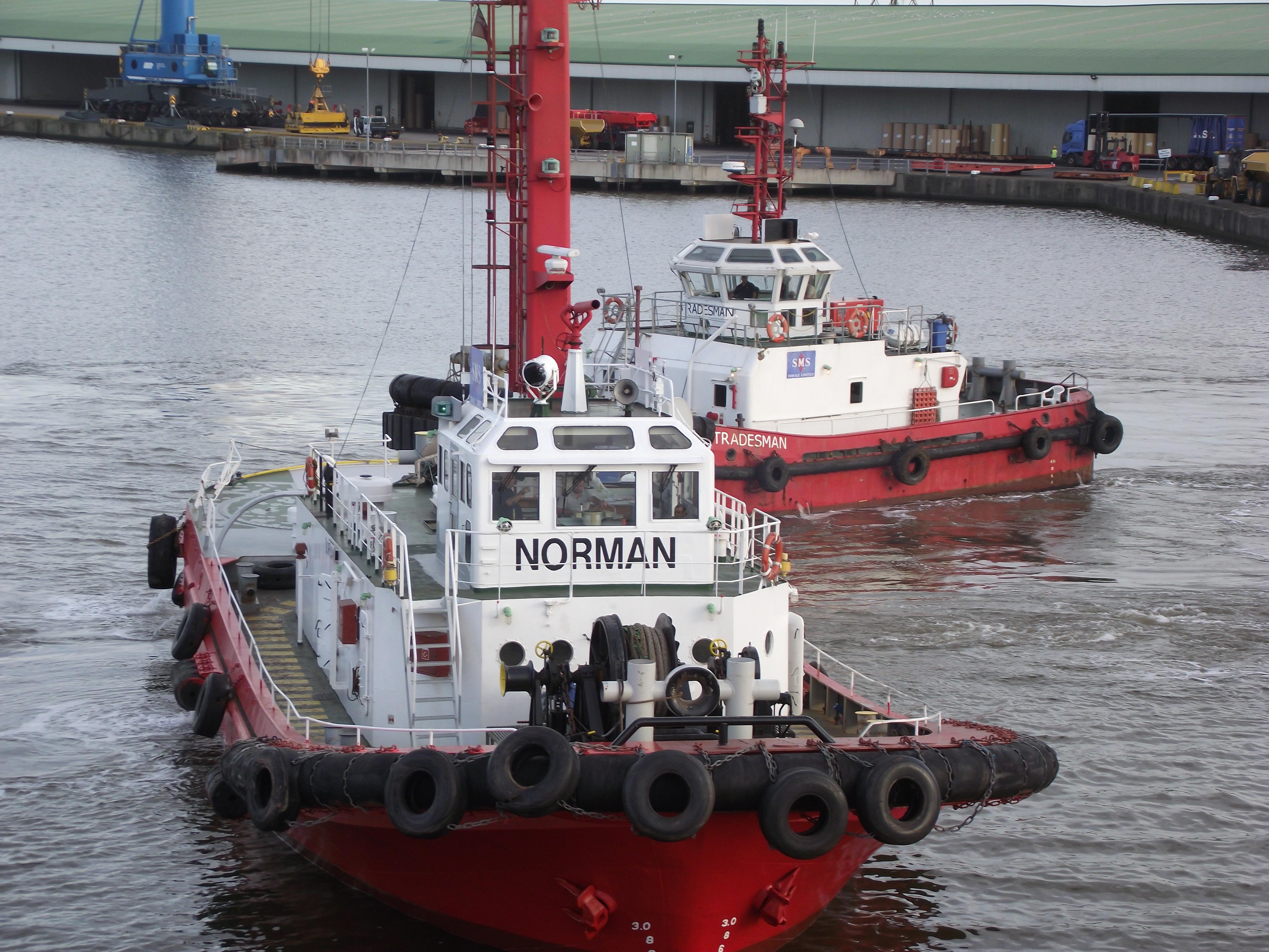 Two Tug boats, 2012, Boat, Dawn, England, HQ Photo