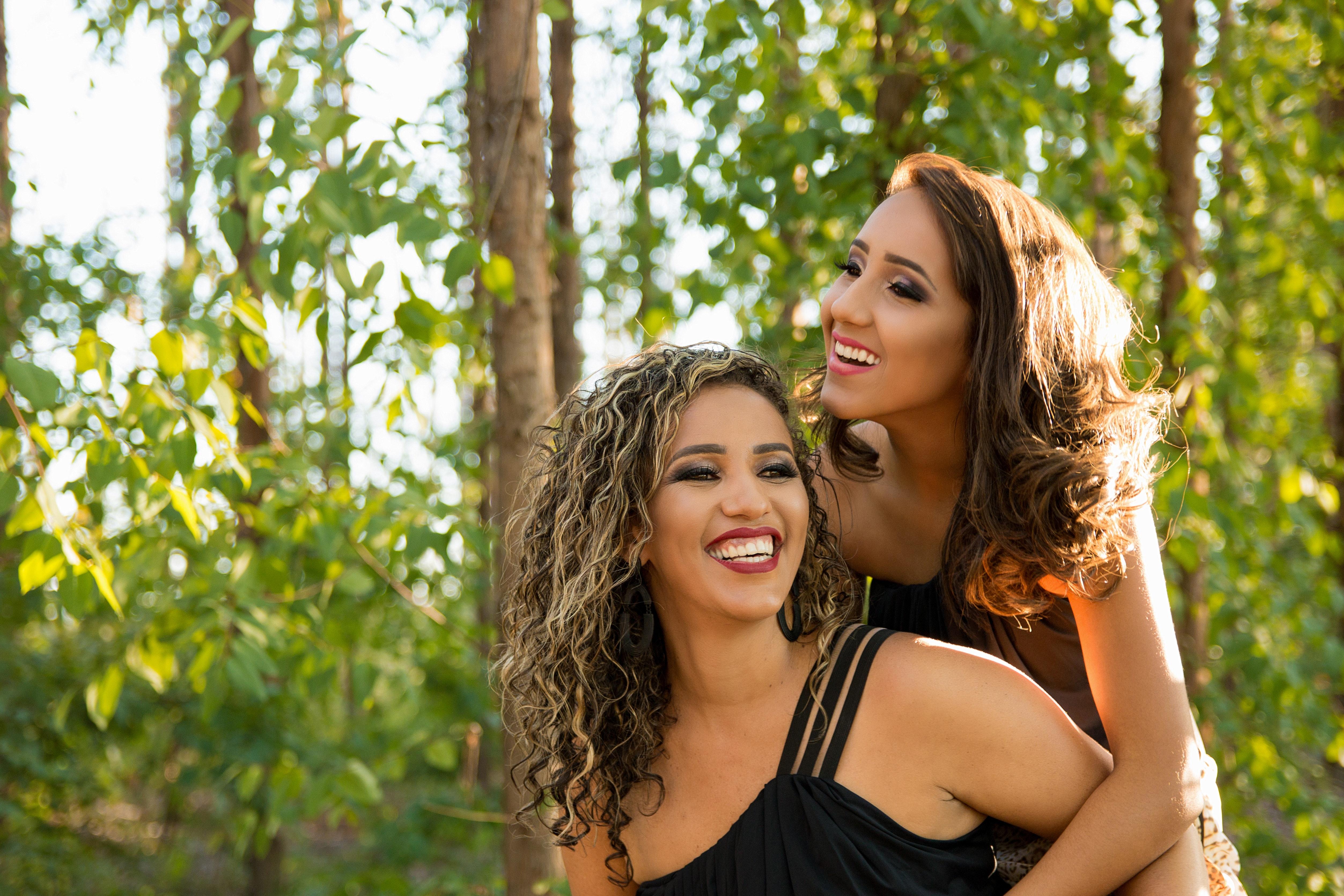 Two women at daytime photo