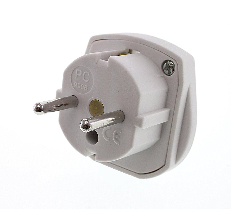 Kit UK 3-Pin to Euro 2-Pin Mains Adapter: Amazon.co.uk: Electronics