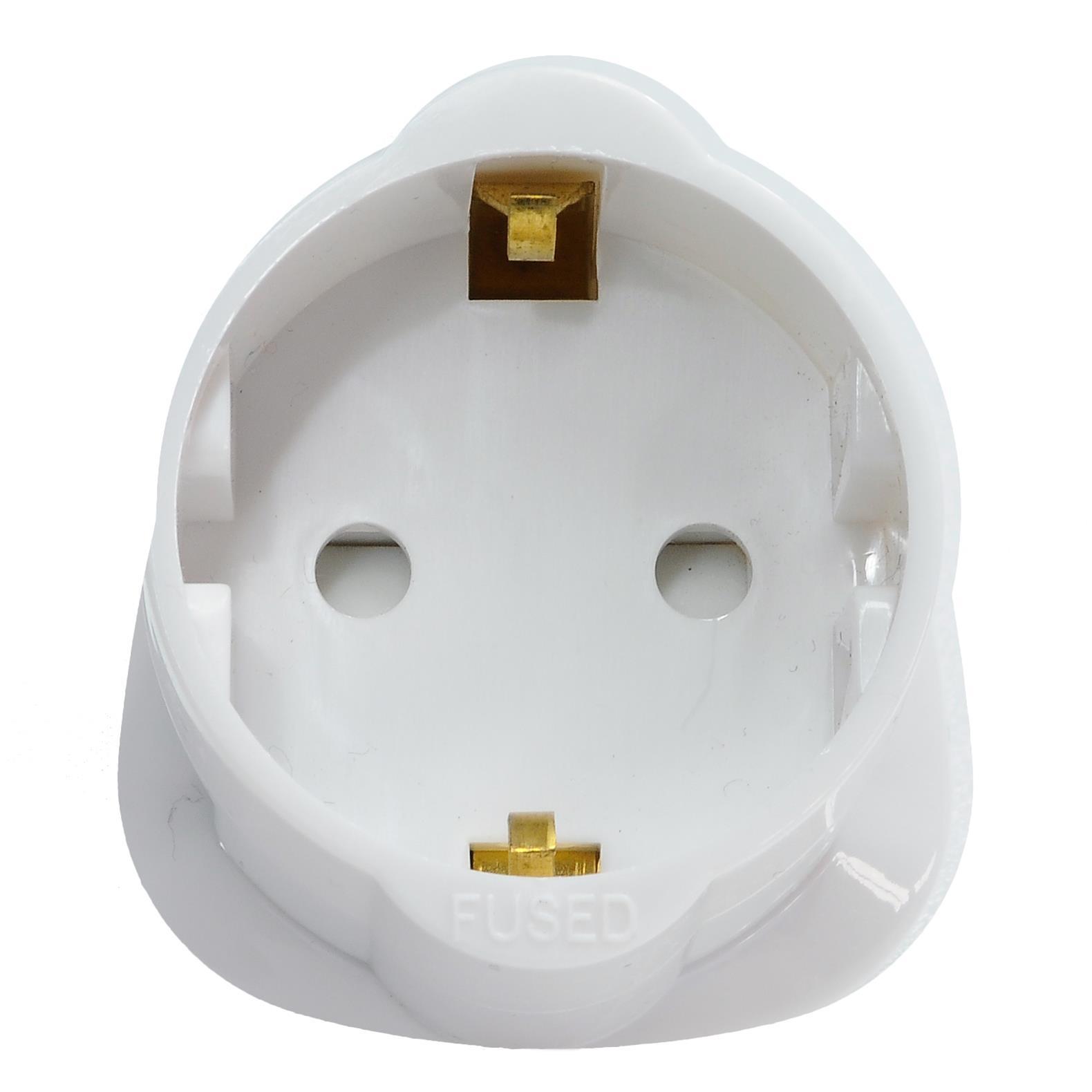 Travel Plug Adaptor 13A 2 pin to 3 pin | Wireless Radio Technology
