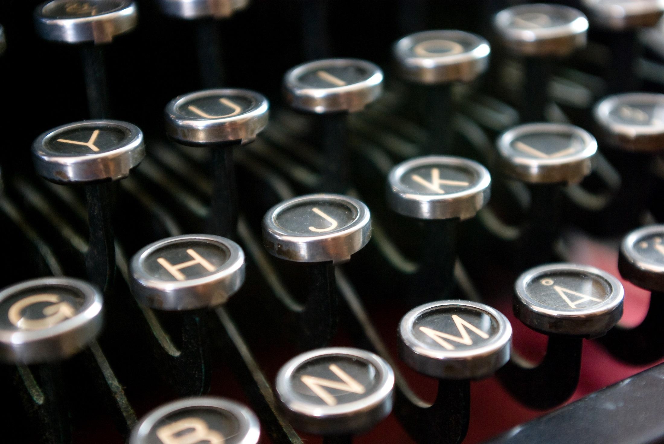 Typewriter keys photo