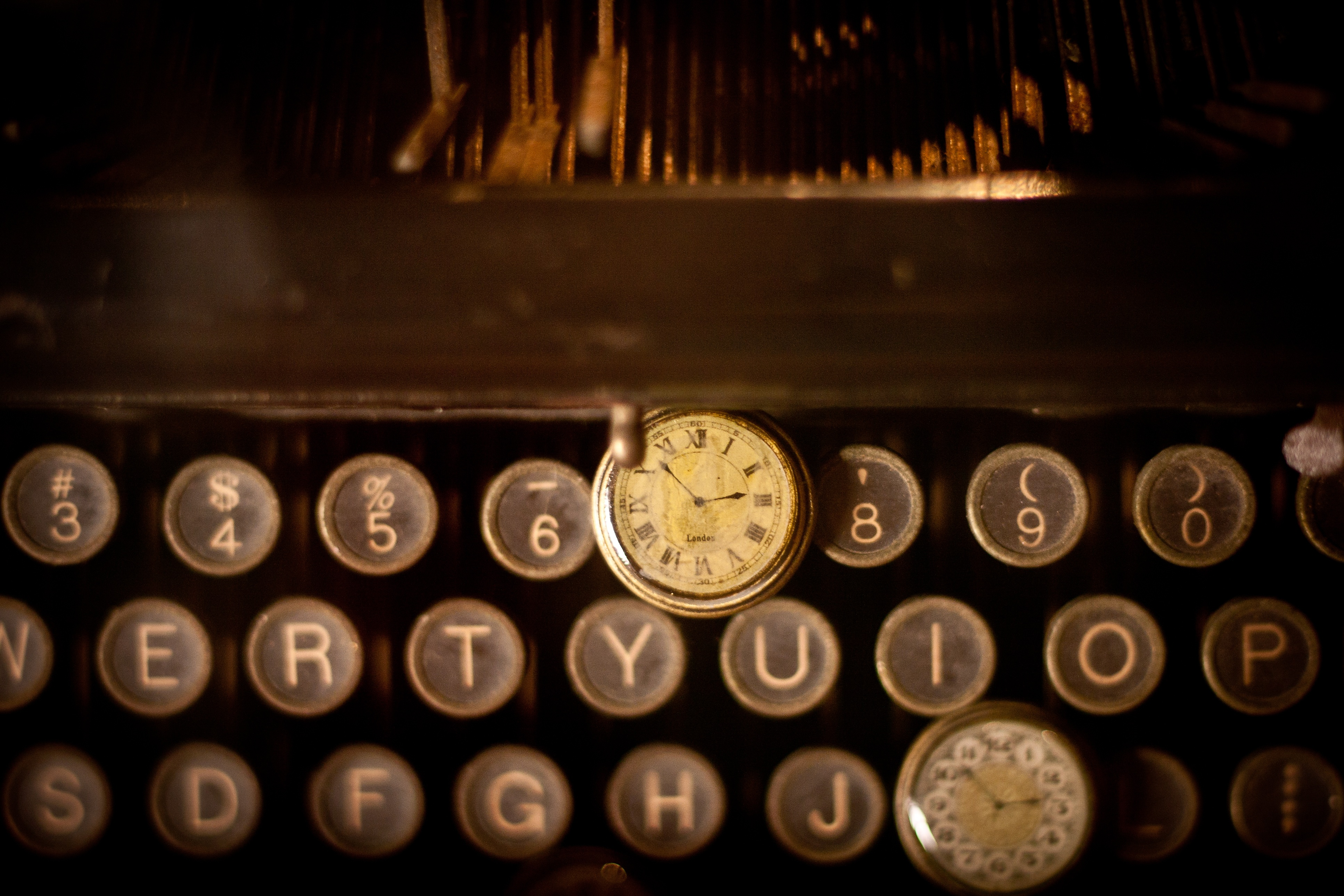 Typewriter, Writer, Type, Clock, Machine, HQ Photo